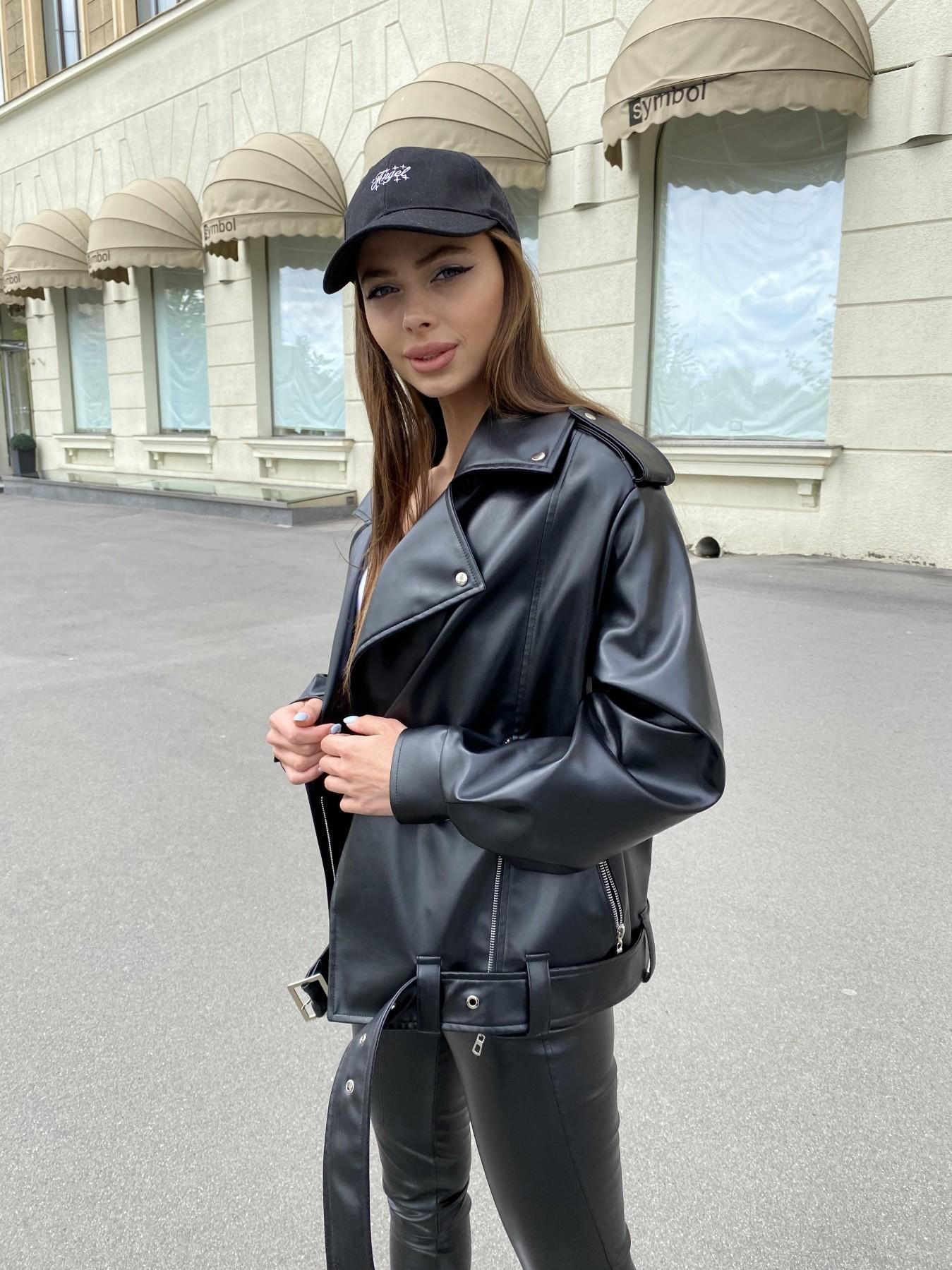 Фора куртка из экокожи прокатанная 11204 АРТ. 47779 Цвет: Черный - фото 4, интернет магазин tm-modus.ru
