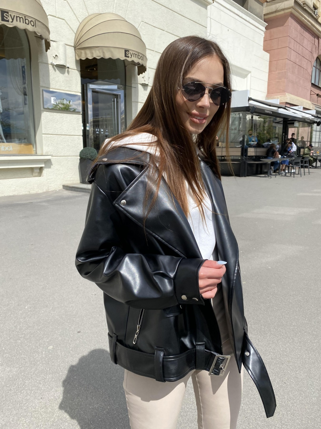 Фора куртка из экокожи прокатанная 11204 АРТ. 47779 Цвет: Черный - фото 5, интернет магазин tm-modus.ru