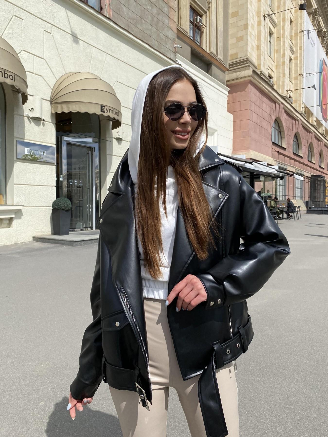 Фора куртка из экокожи прокатанная 11204 АРТ. 47779 Цвет: Черный - фото 7, интернет магазин tm-modus.ru
