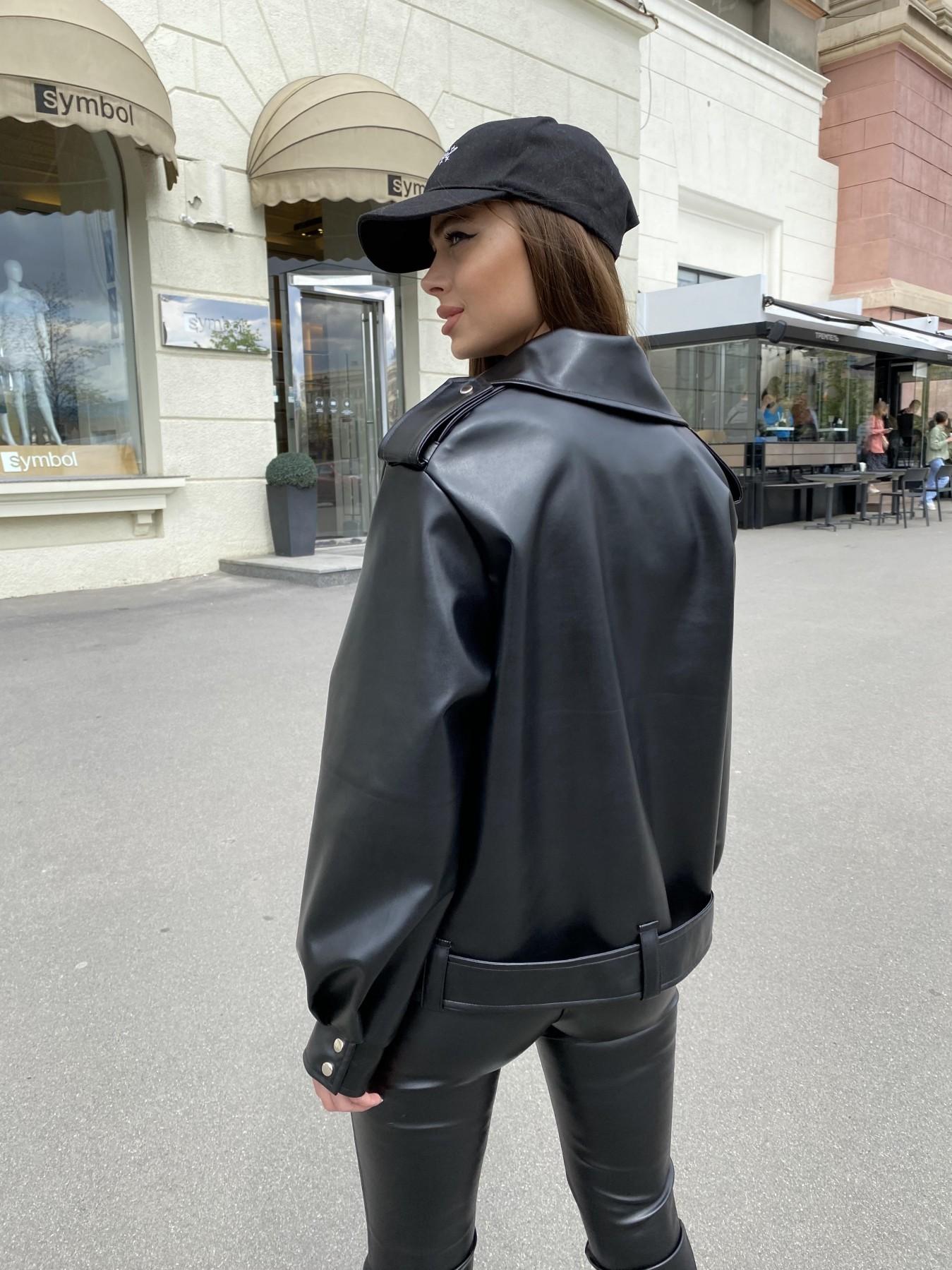 Фора куртка из экокожи прокатанная 11204 АРТ. 47779 Цвет: Черный - фото 9, интернет магазин tm-modus.ru