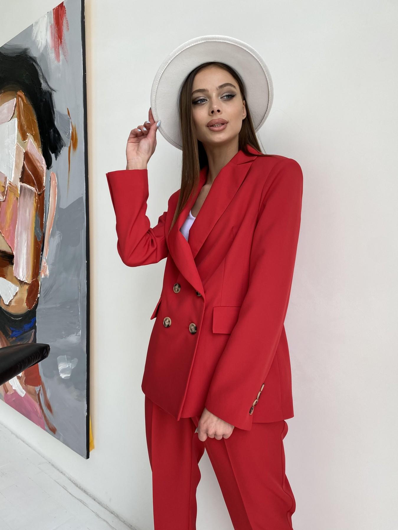 Франко костюм из костюмной ткани 11090 АРТ. 47798 Цвет: Красный - фото 1, интернет магазин tm-modus.ru