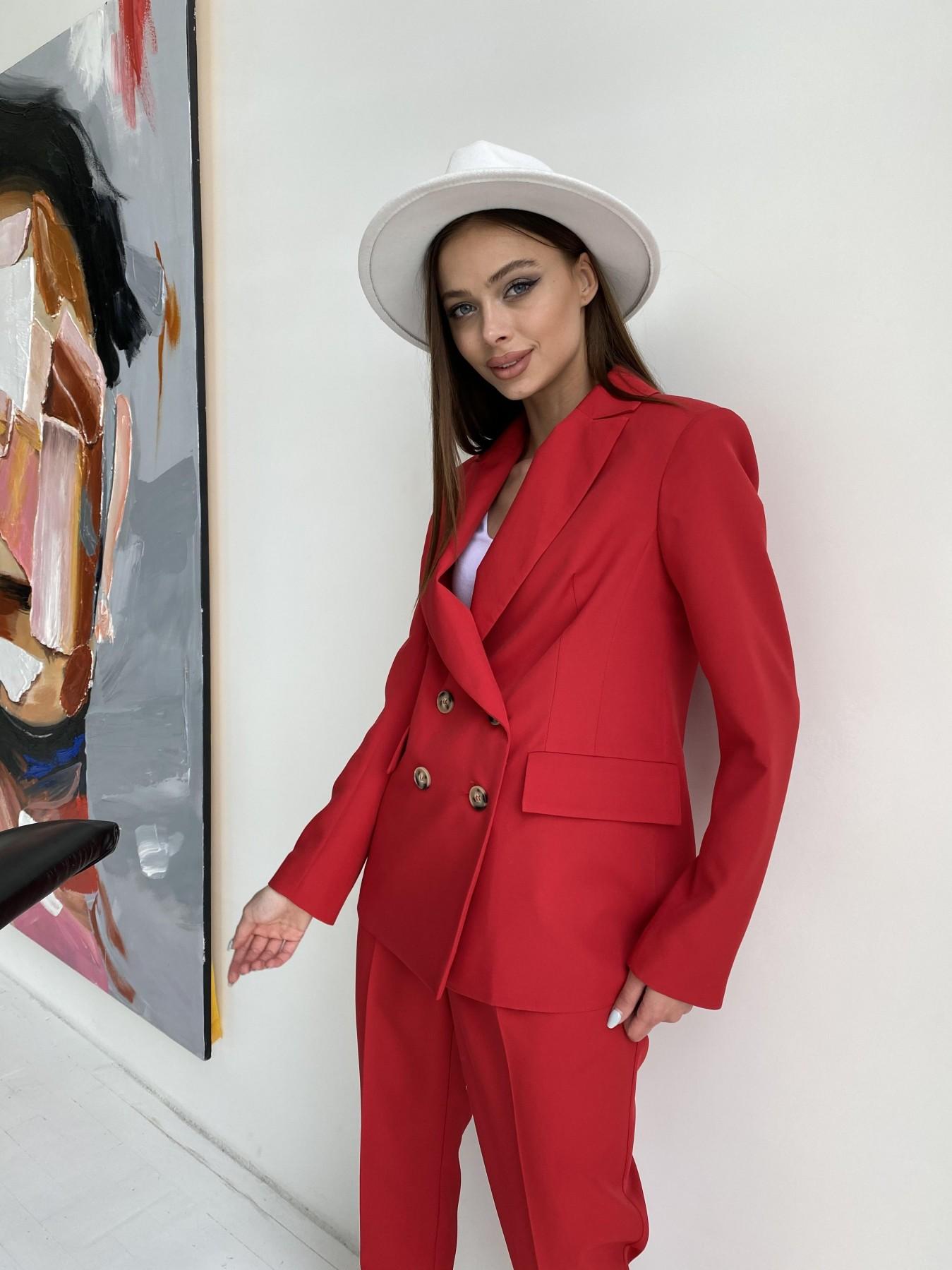 Франко костюм из костюмной ткани 11090 АРТ. 47798 Цвет: Красный - фото 2, интернет магазин tm-modus.ru