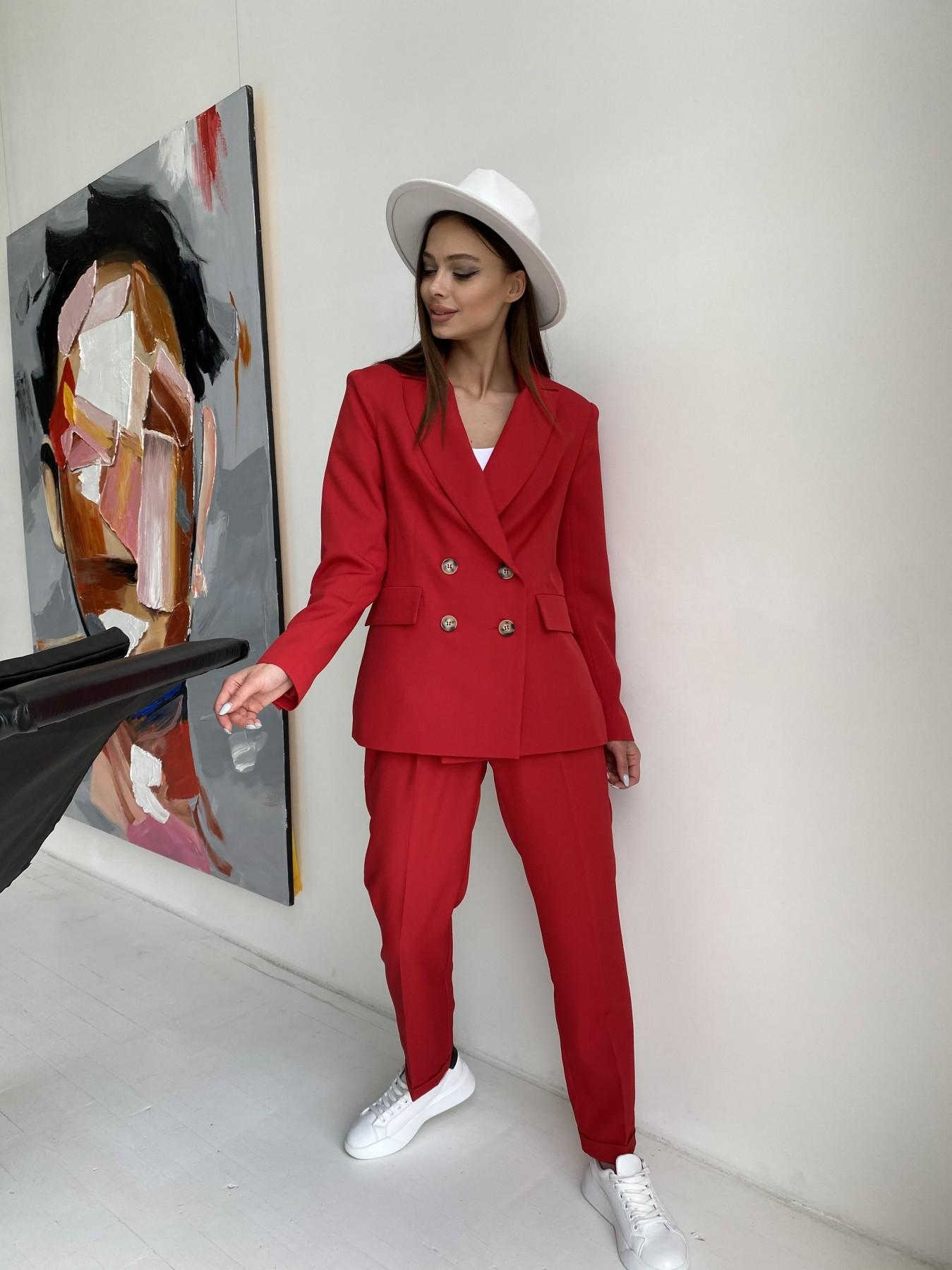 Франко костюм из костюмной ткани 11090 АРТ. 47798 Цвет: Красный - фото 3, интернет магазин tm-modus.ru