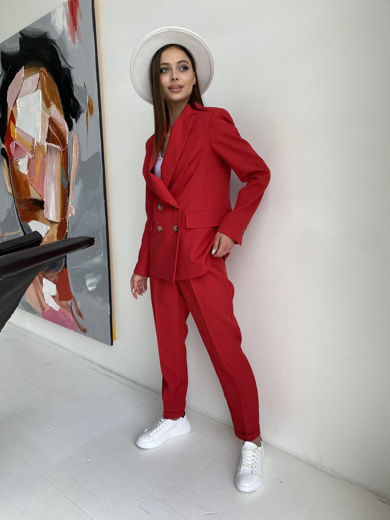 Франко костюм из костюмной ткани 11090 АРТ. 47798 Цвет: Красный - фото 4, интернет магазин tm-modus.ru
