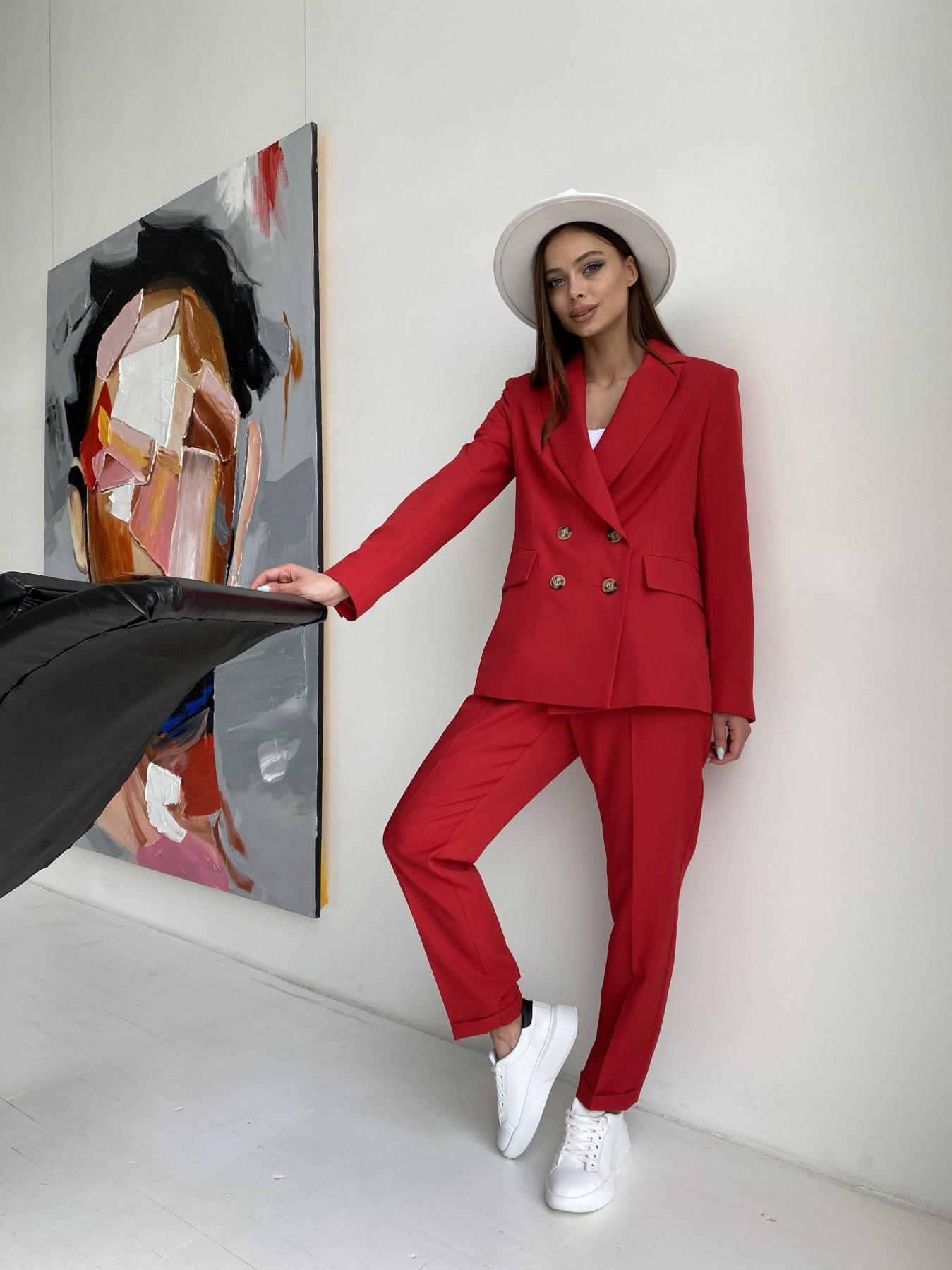 Франко костюм из костюмной ткани 11090 АРТ. 47798 Цвет: Красный - фото 5, интернет магазин tm-modus.ru