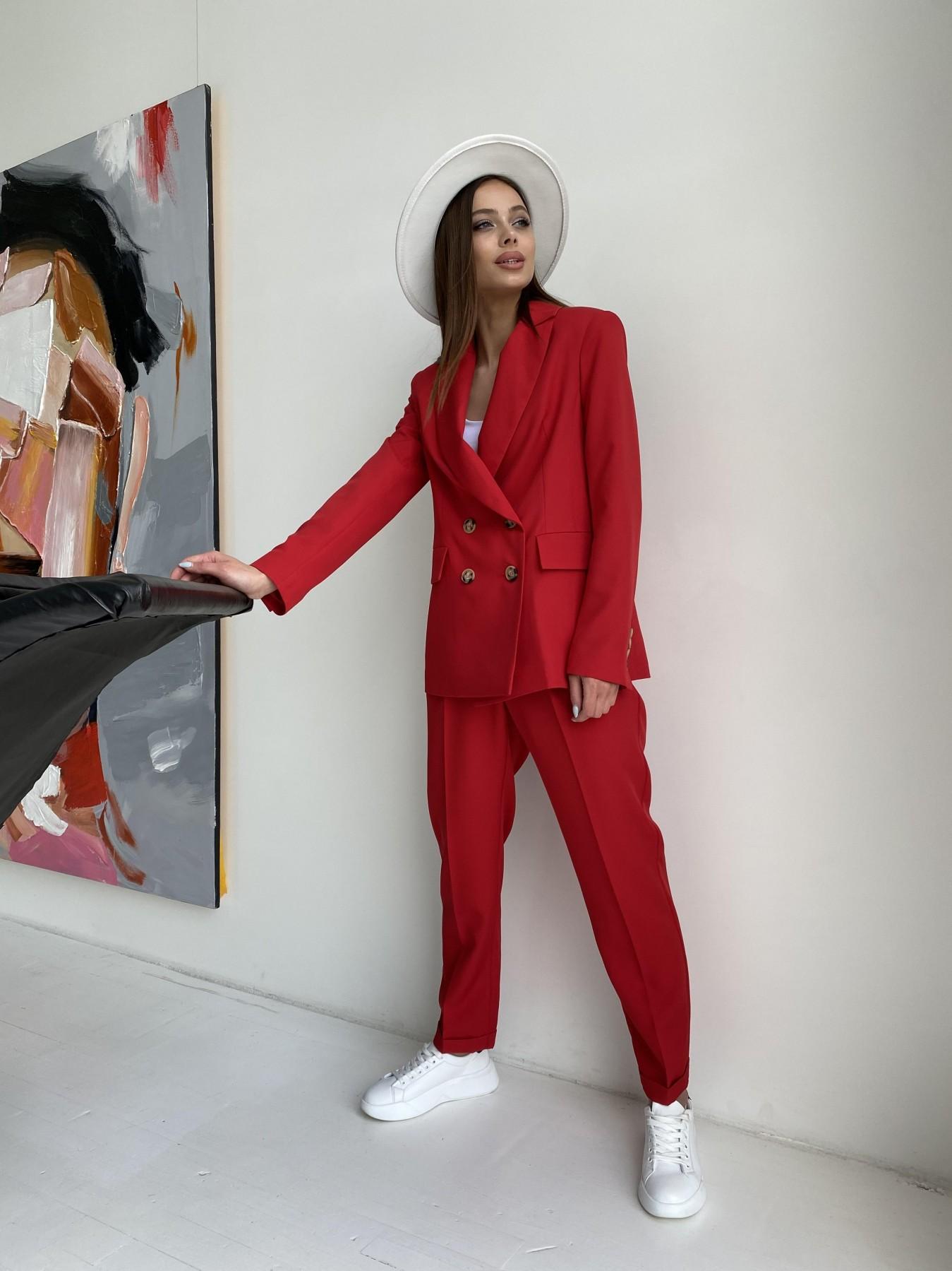 Франко костюм из костюмной ткани 11090 АРТ. 47798 Цвет: Красный - фото 6, интернет магазин tm-modus.ru