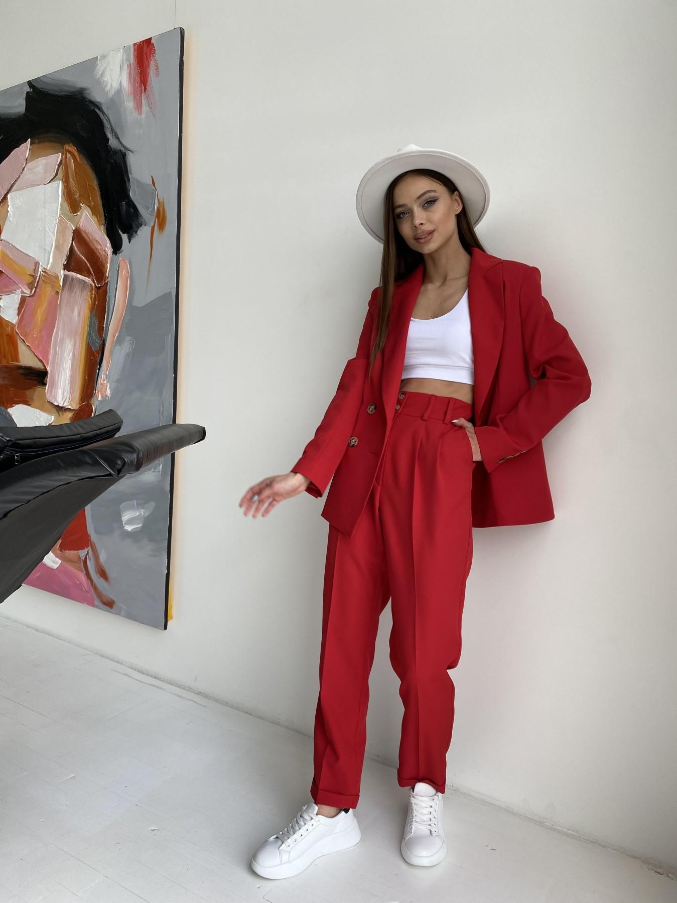 Франко костюм из костюмной ткани 11090 АРТ. 47798 Цвет: Красный - фото 7, интернет магазин tm-modus.ru