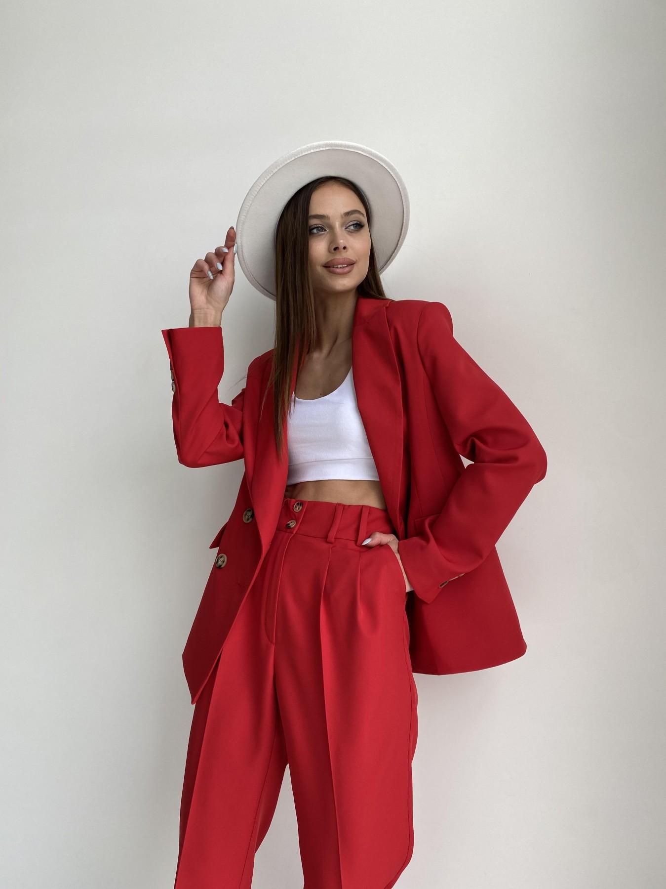 Франко костюм из костюмной ткани 11090 АРТ. 47798 Цвет: Красный - фото 9, интернет магазин tm-modus.ru
