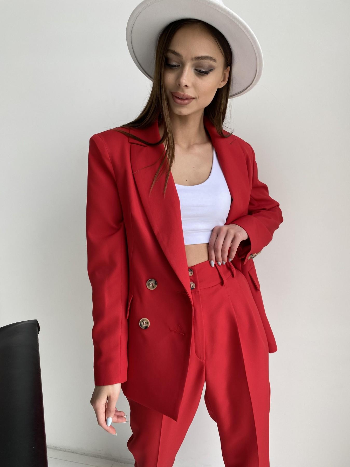 Франко костюм из костюмной ткани 11090 АРТ. 47798 Цвет: Красный - фото 12, интернет магазин tm-modus.ru