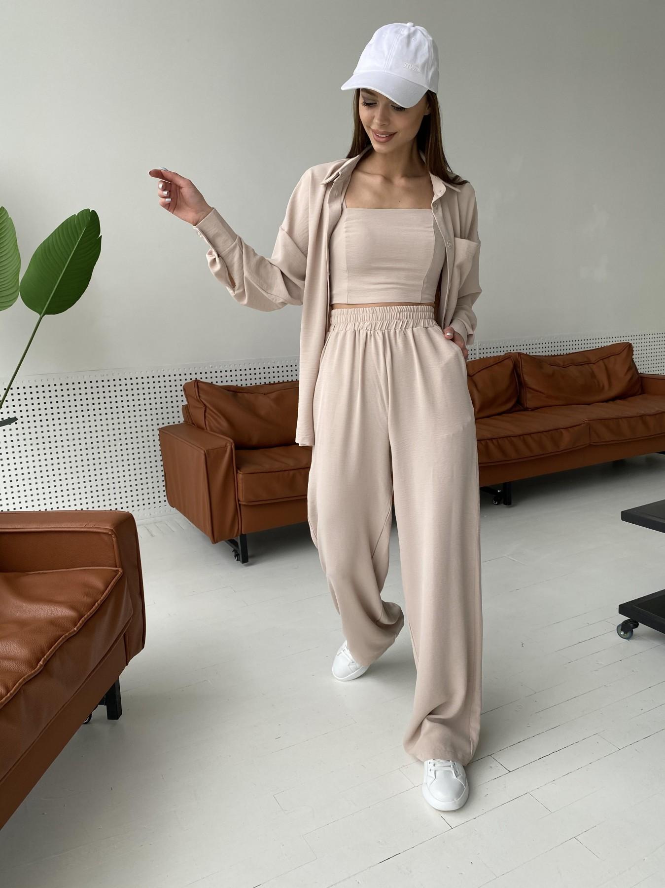 Рико костюм американский из креп ткани 11293 АРТ. 47827 Цвет: Бежевый Светлый - фото 13, интернет магазин tm-modus.ru