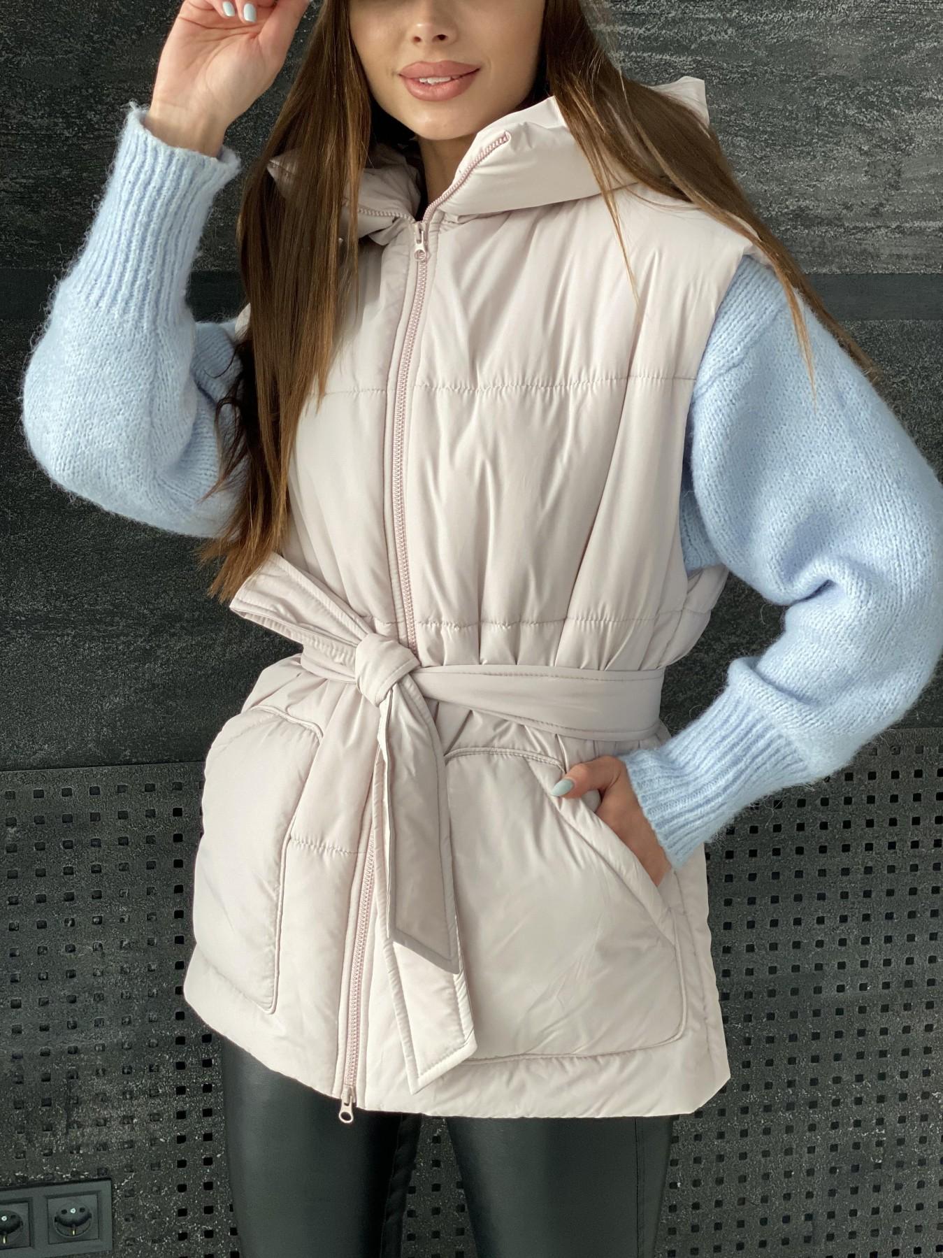 Личчи жилет из плащевой ткани  Ammy 10682 АРТ. 47503 Цвет: Бежевый 970 - фото 9, интернет магазин tm-modus.ru