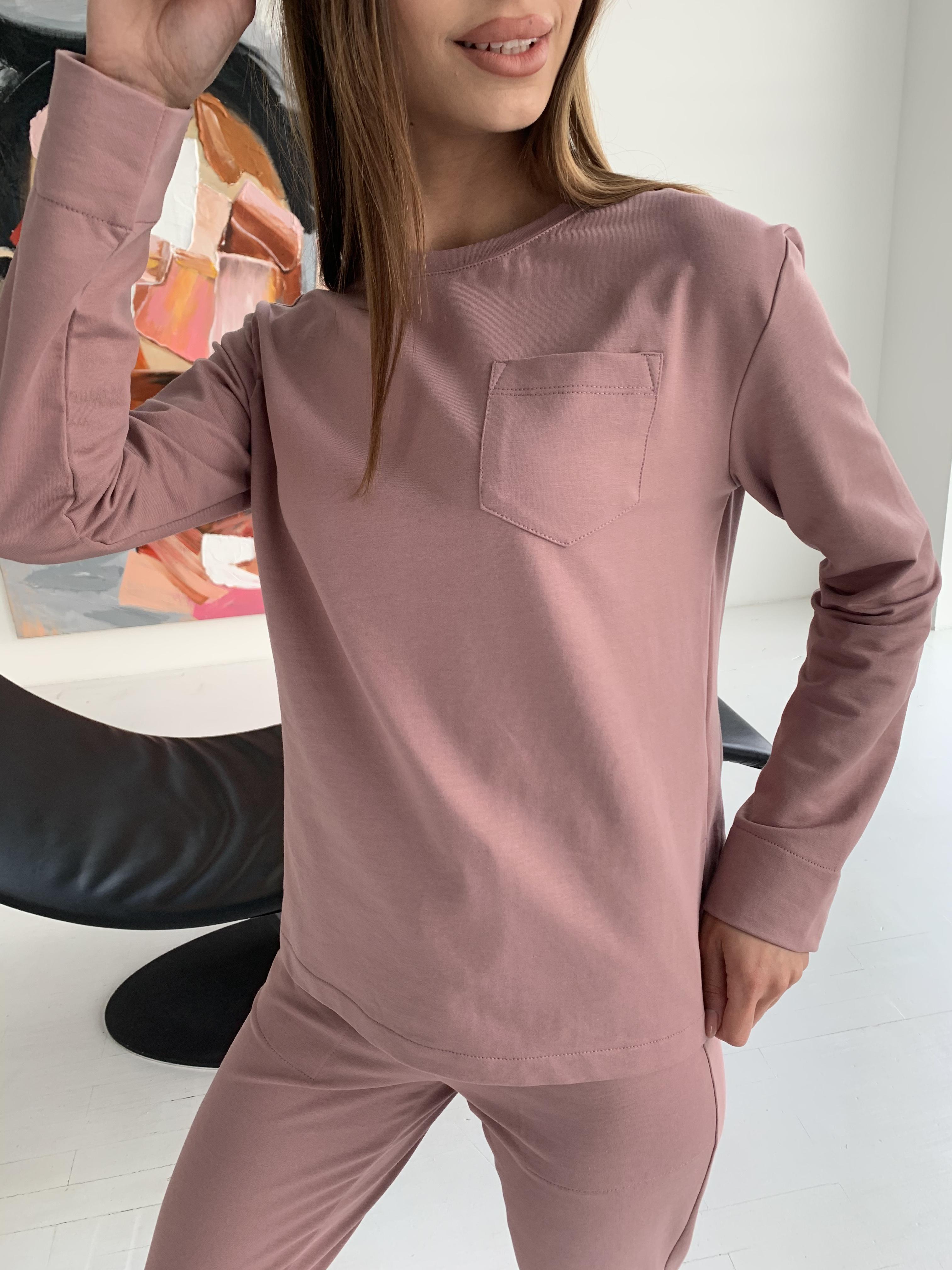 Мови  прогулочный костюм из трикотажа двунитка  9546 АРТ. 46280 Цвет: Пудра Темная - фото 7, интернет магазин tm-modus.ru