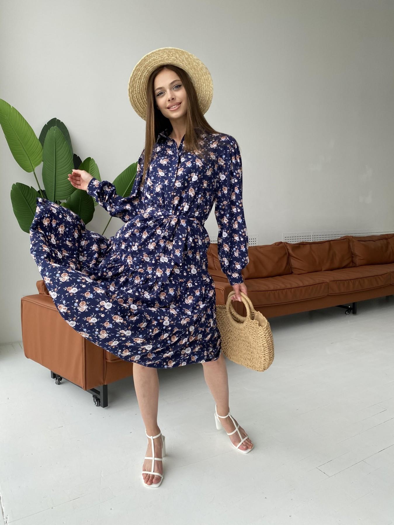 Купить платья оптом TM Modus Лилия платье из софта с принтом 11108