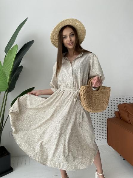 """Купить """"Жасмин"""" платье в принт из софта 11234 оптом и в розницу"""