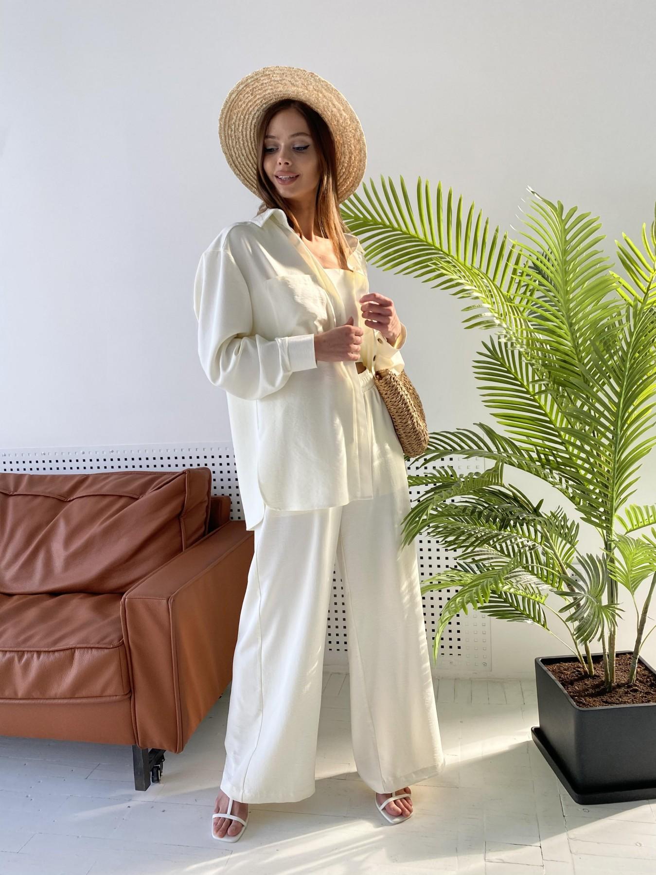 Квадро костюм американский из ткани креп (4 ед) 11303 АРТ. 47839 Цвет: Молоко - фото 6, интернет магазин tm-modus.ru