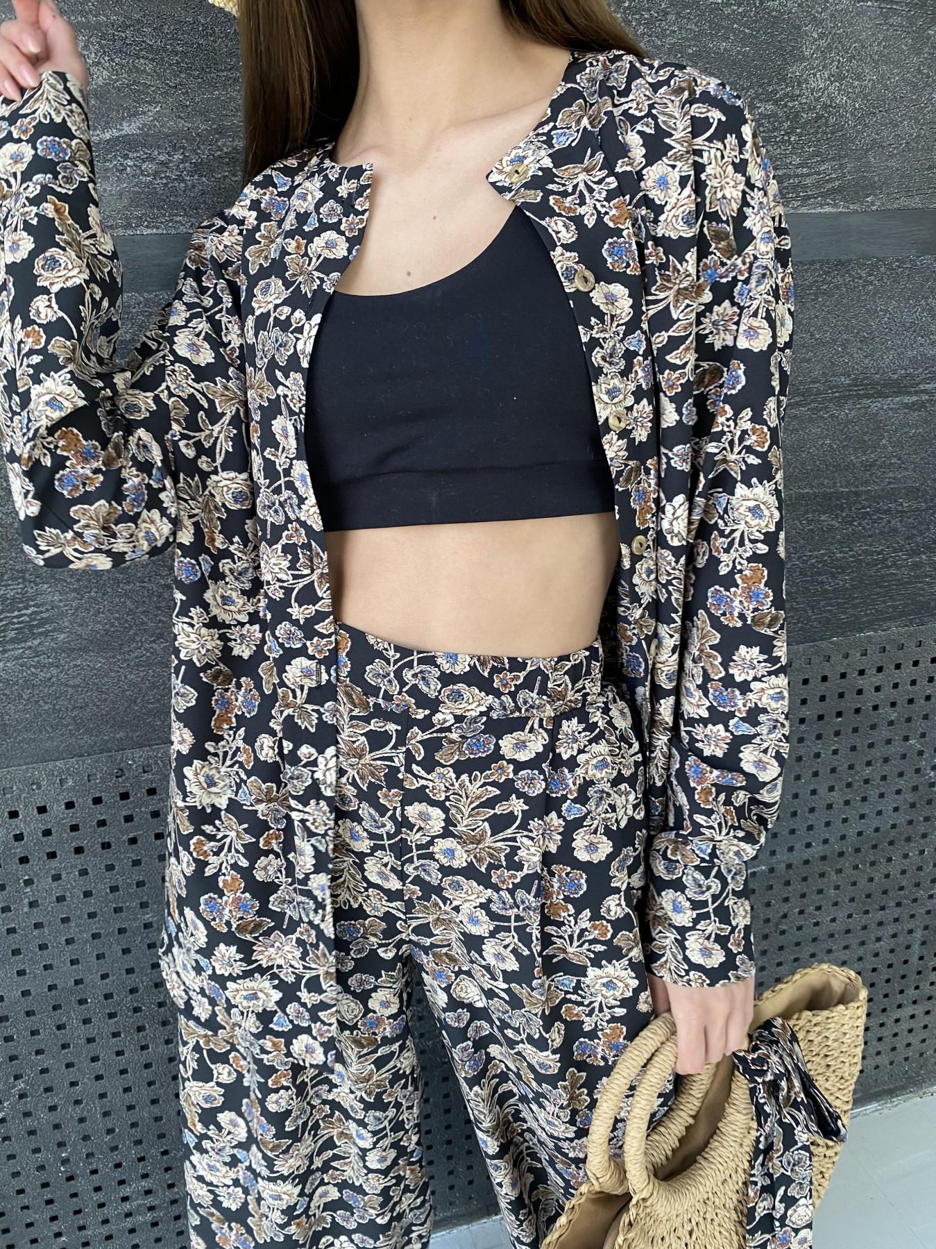 Колибри костюм софт с принтом 11244 АРТ. 47841 Цвет: Черный/т. беж, Цветы - фото 3, интернет магазин tm-modus.ru