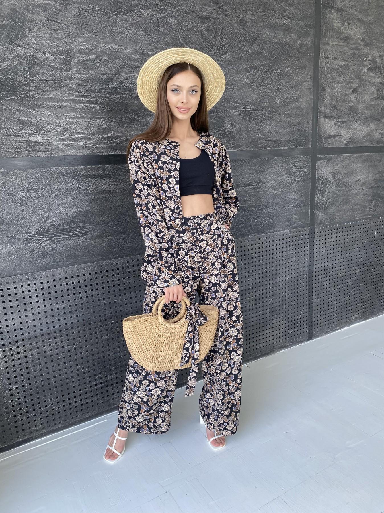 Женская одежда оптом от производителя Колибри костюм софт с принтом 11244