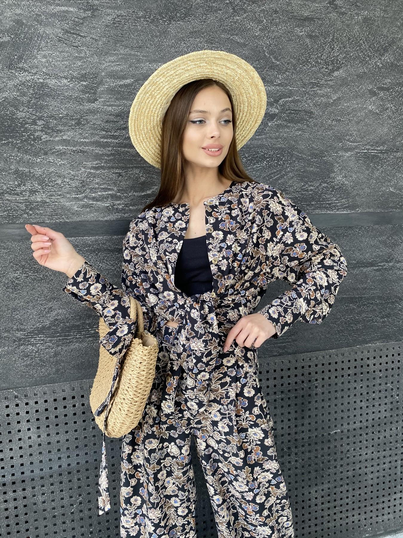 Колибри костюм софт с принтом 11244 АРТ. 47841 Цвет: Черный/т. беж, Цветы - фото 6, интернет магазин tm-modus.ru