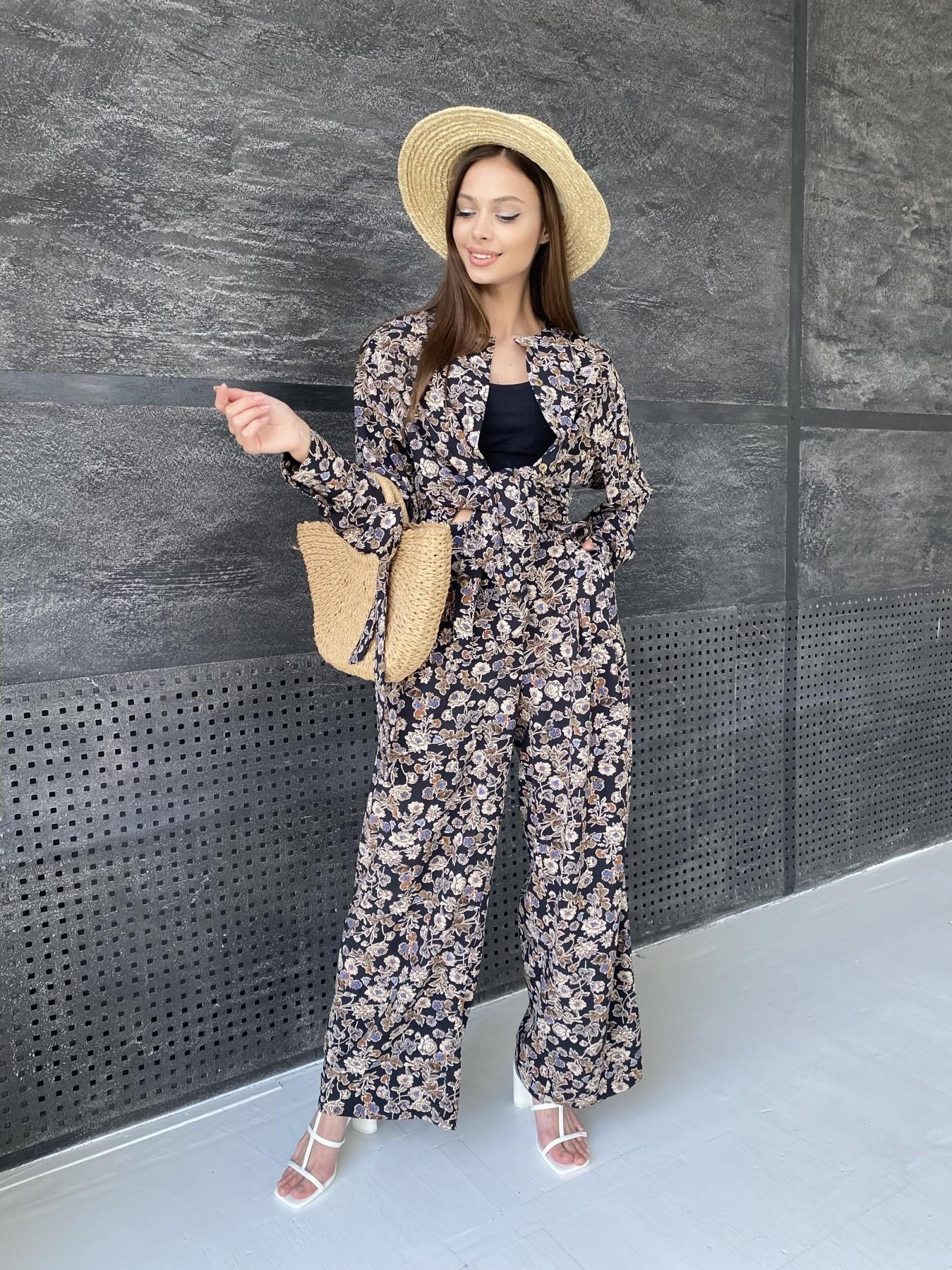 Колибри костюм софт с принтом 11244 АРТ. 47841 Цвет: Черный/т. беж, Цветы - фото 7, интернет магазин tm-modus.ru