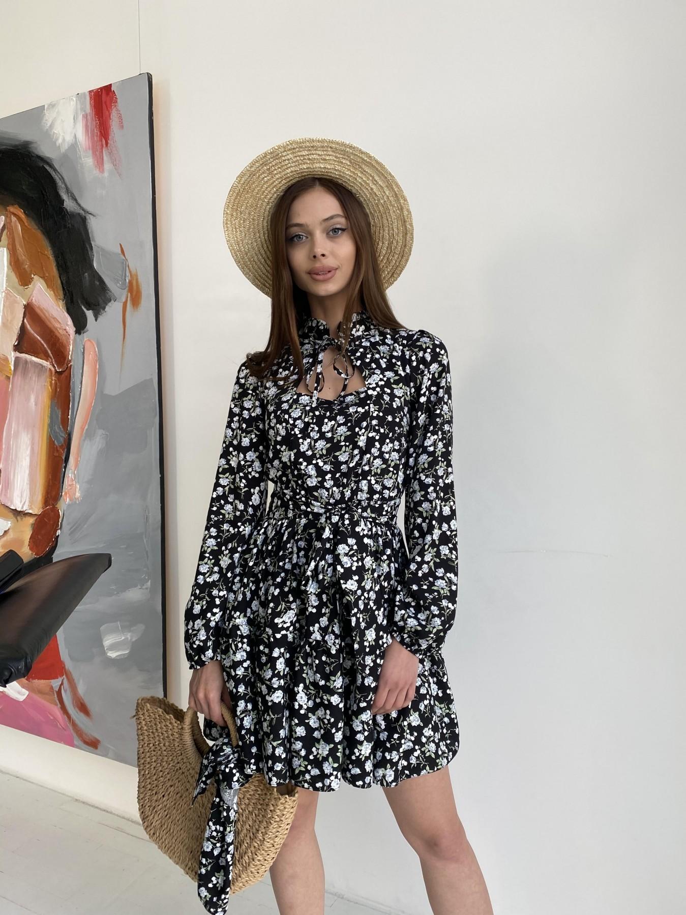 Купить платья оптом в Украине Марселла платье из вискозы и льна 11329