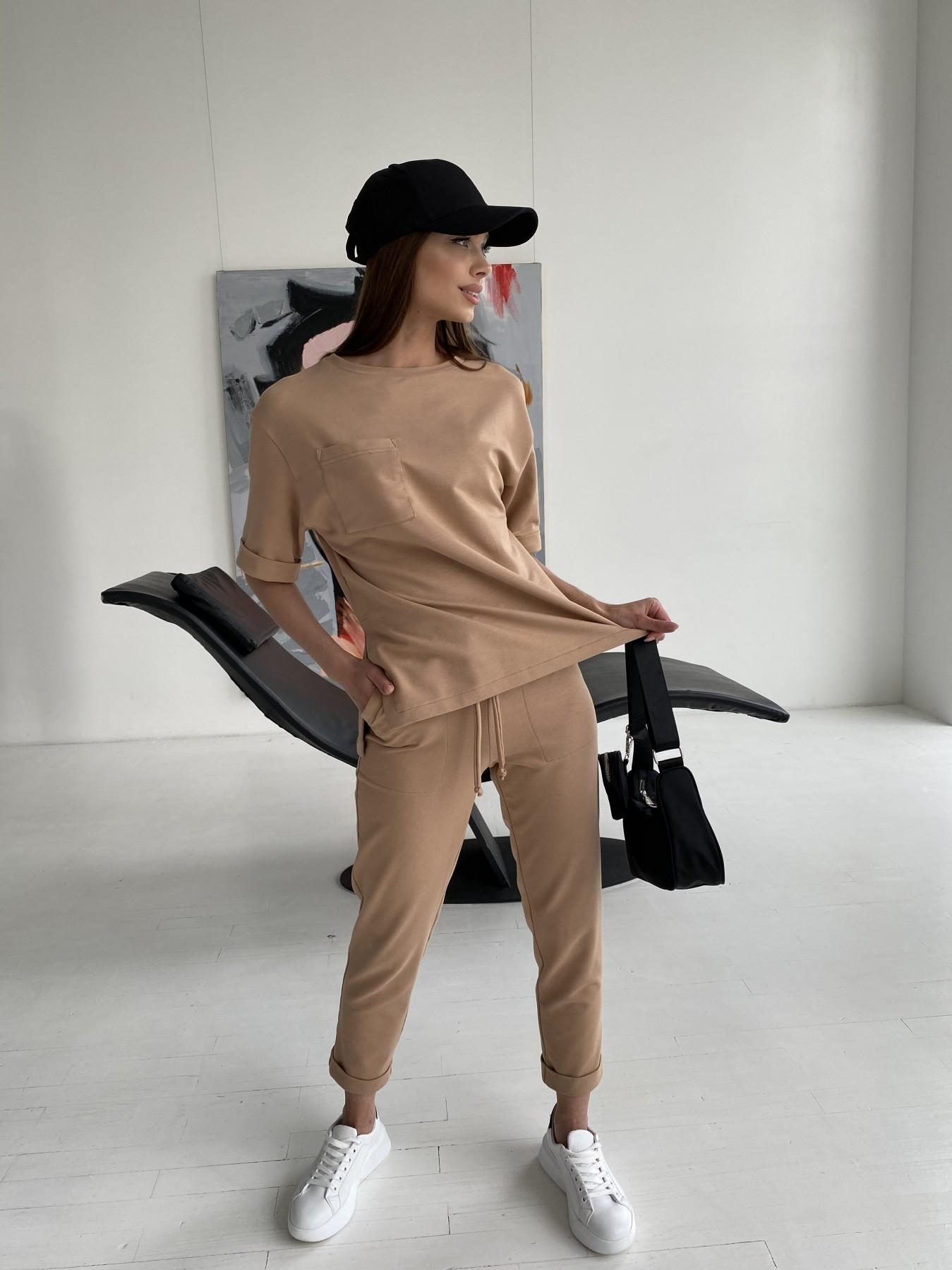 Купить женскую одежду оптом Лунго костюм трикотажный из двунитки тонкий 11352