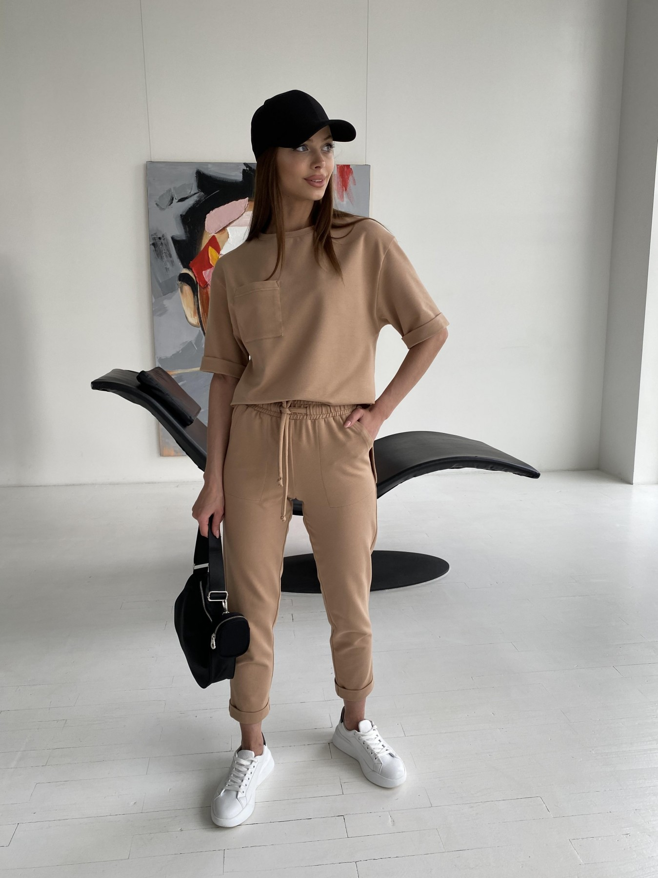 Лунго костюм трикотажный из двунитки тонкий 11352 АРТ. 47895 Цвет: Кемел - фото 7, интернет магазин tm-modus.ru