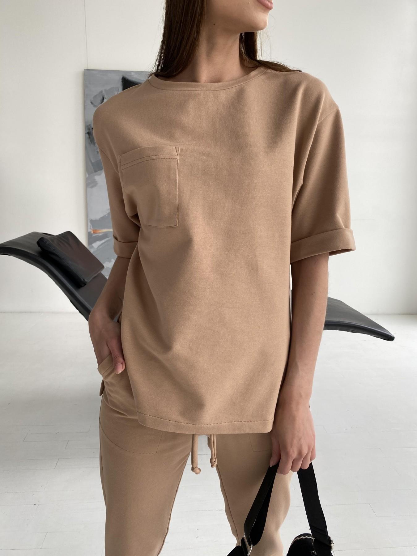 Лунго костюм трикотажный из двунитки тонкий 11352 АРТ. 47895 Цвет: Кемел - фото 8, интернет магазин tm-modus.ru