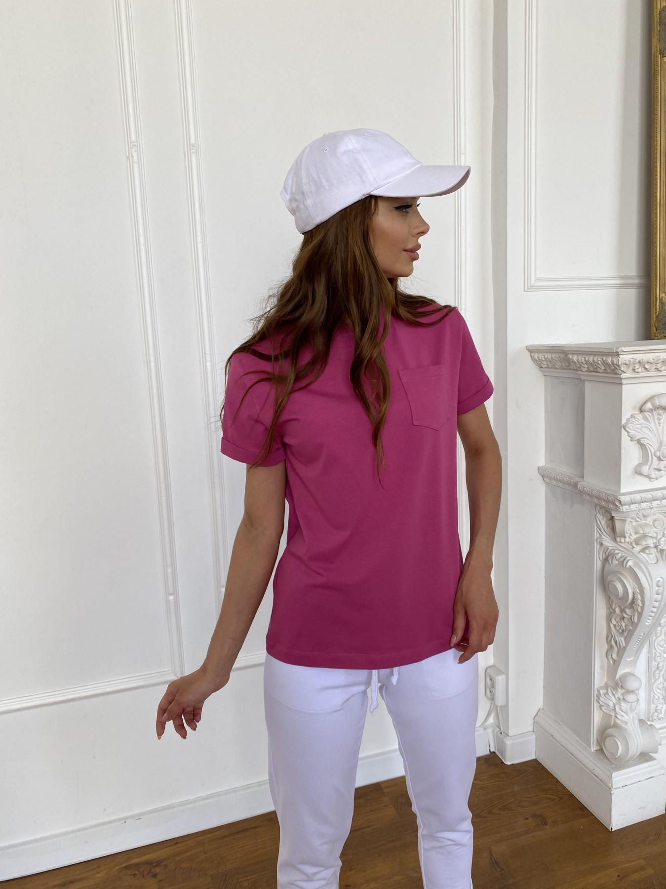 Вуди футболка из вискозы 11224 АРТ. 47874 Цвет: Малиновый - фото 1, интернет магазин tm-modus.ru
