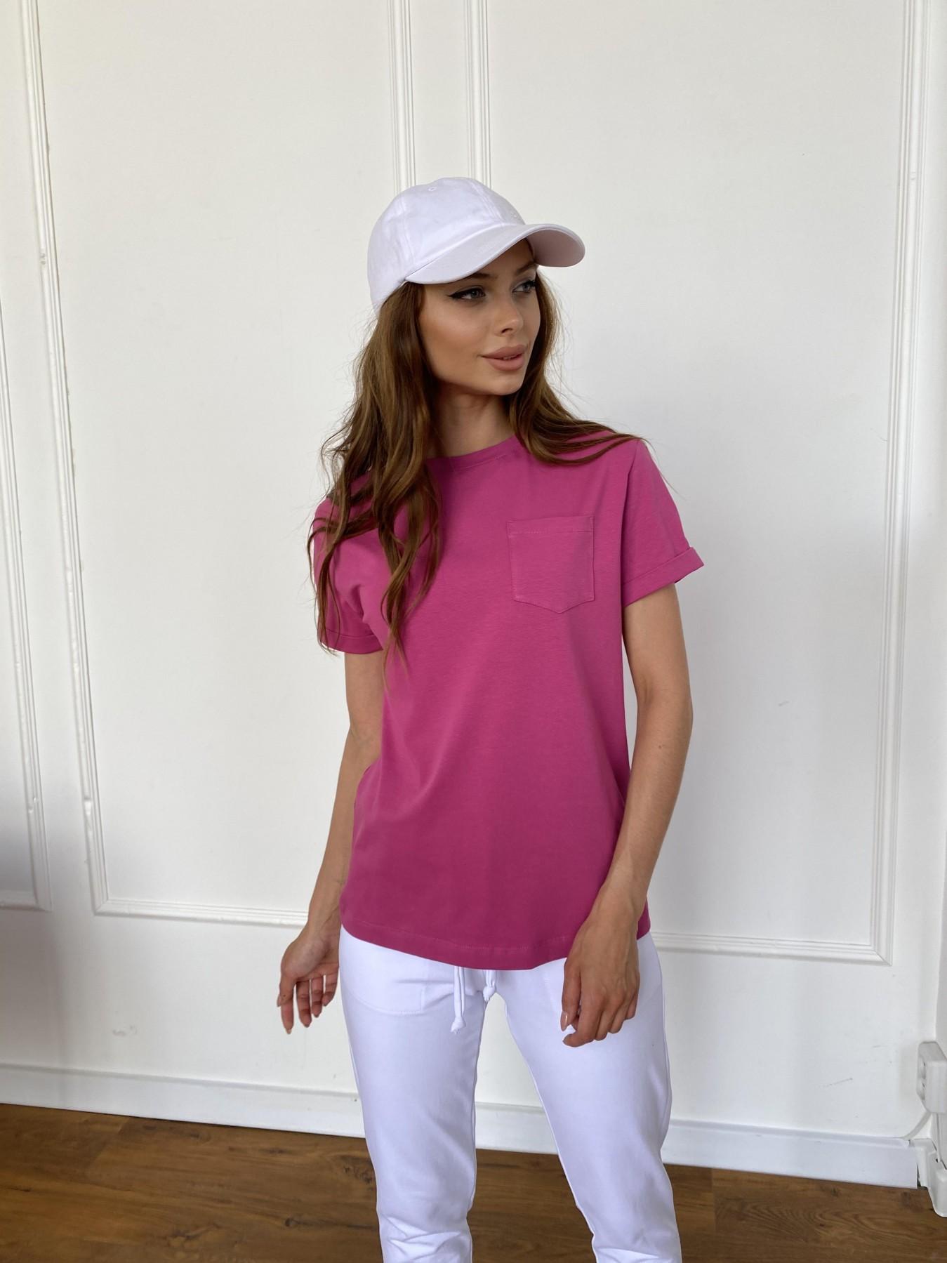 Вуди футболка из вискозы 11224 АРТ. 47874 Цвет: Малиновый - фото 3, интернет магазин tm-modus.ru