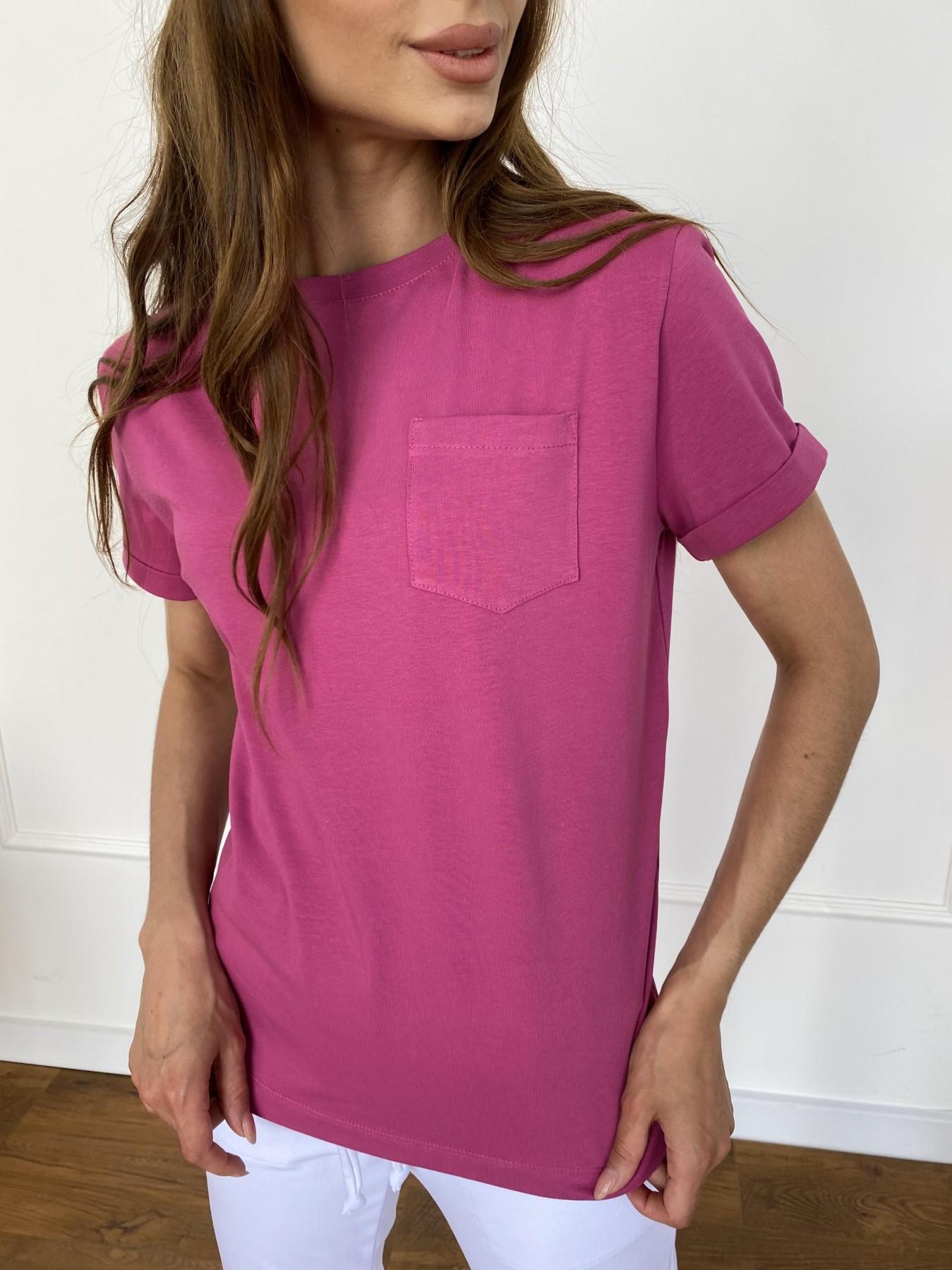 Вуди футболка из вискозы 11224 АРТ. 47874 Цвет: Малиновый - фото 4, интернет магазин tm-modus.ru
