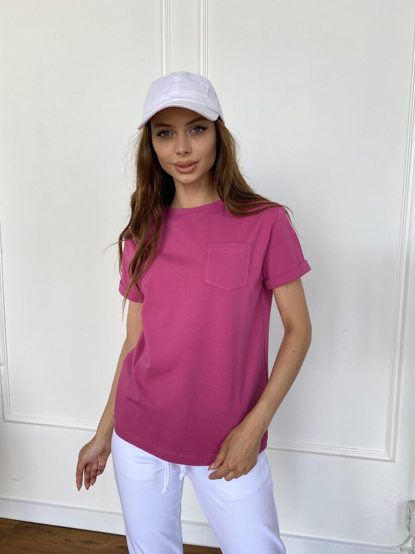 Вуди футболка из вискозы 11224 АРТ. 47874 Цвет: Малиновый - фото 5, интернет магазин tm-modus.ru
