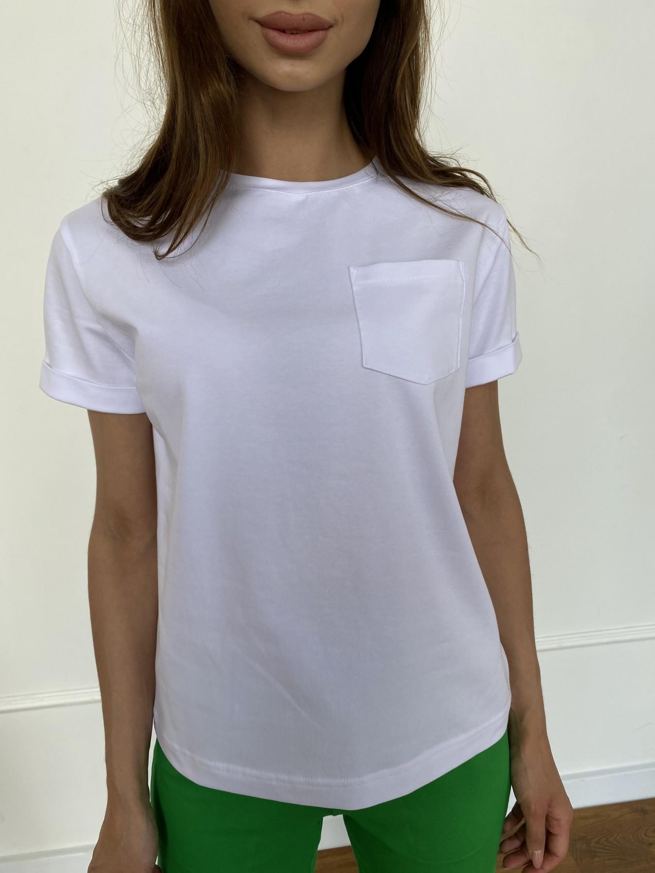 Вуди футболка из вискозы 11224 АРТ. 47750 Цвет: Белый - фото 1, интернет магазин tm-modus.ru