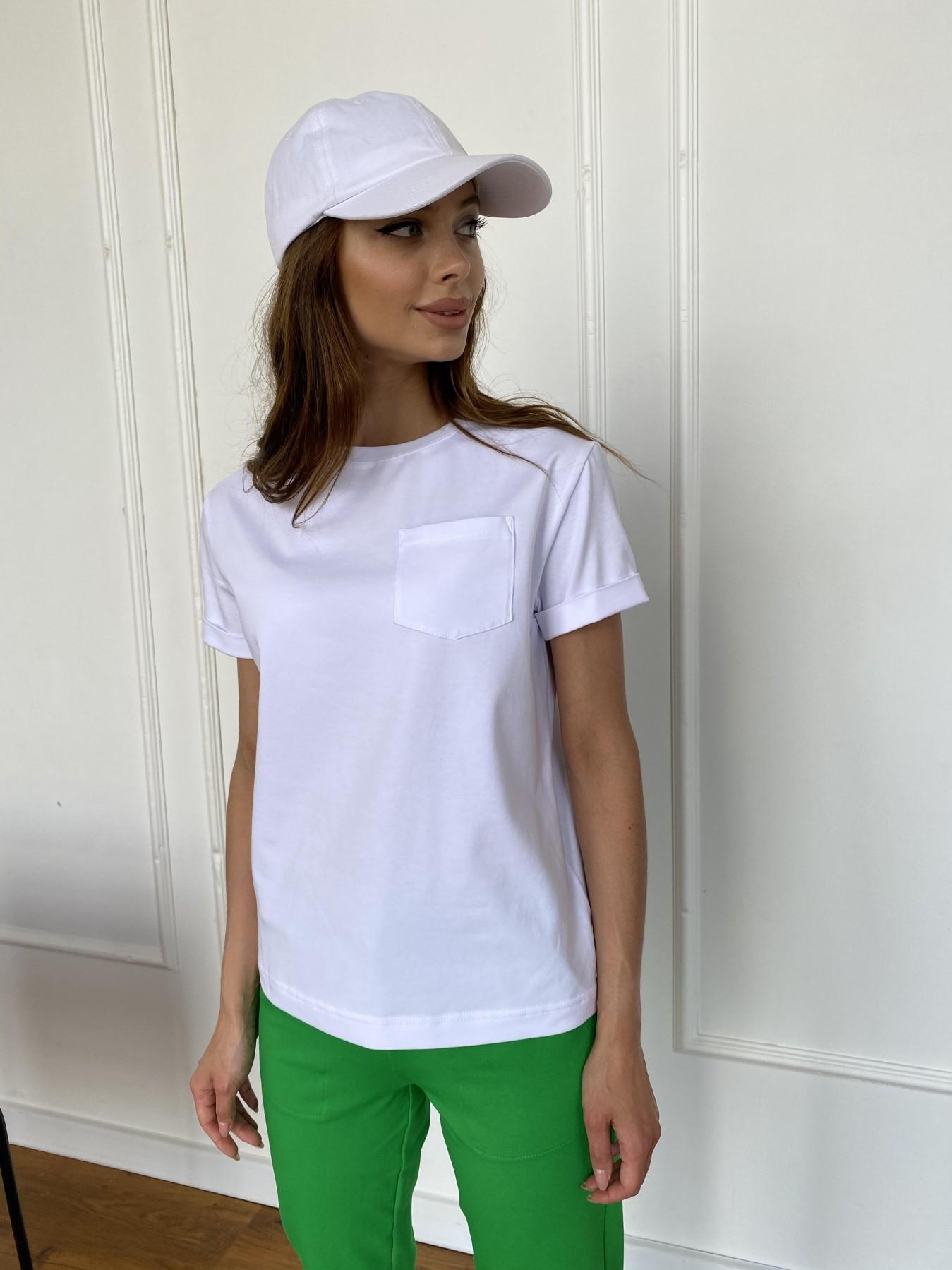 Вуди футболка из вискозы 11224 АРТ. 47750 Цвет: Белый - фото 2, интернет магазин tm-modus.ru
