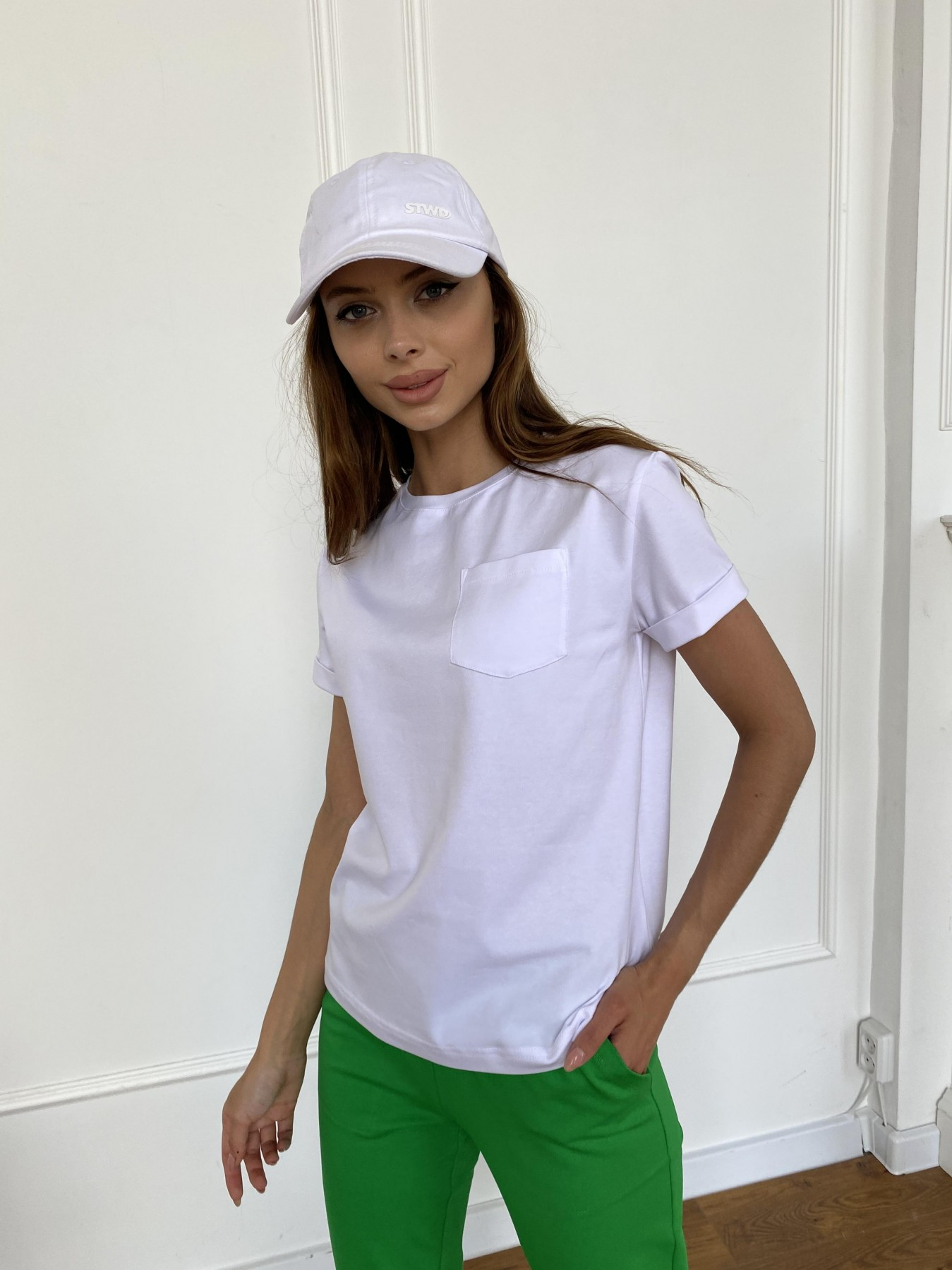 Вуди футболка из вискозы 11224 АРТ. 47750 Цвет: Белый - фото 3, интернет магазин tm-modus.ru