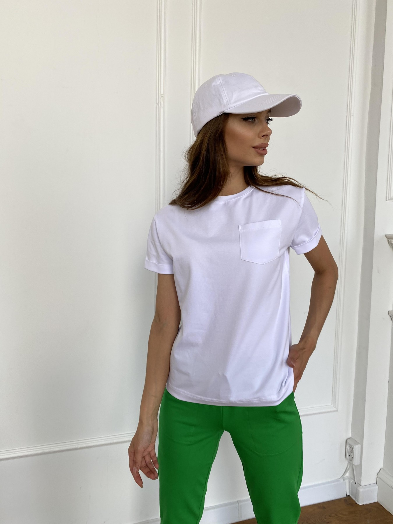 Вуди футболка из вискозы 11224 АРТ. 47750 Цвет: Белый - фото 6, интернет магазин tm-modus.ru