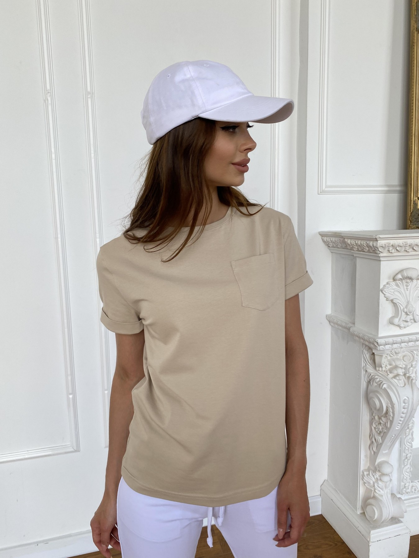 Вуди футболка из вискозы 11224 АРТ. 47877 Цвет: Бежевый - фото 2, интернет магазин tm-modus.ru