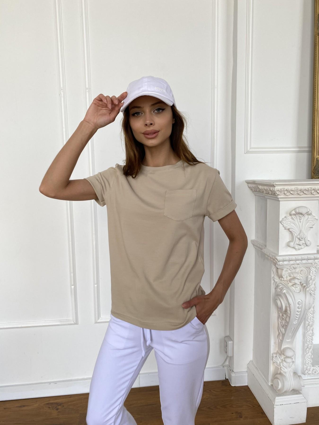 Вуди футболка из вискозы 11224 АРТ. 47877 Цвет: Бежевый - фото 3, интернет магазин tm-modus.ru