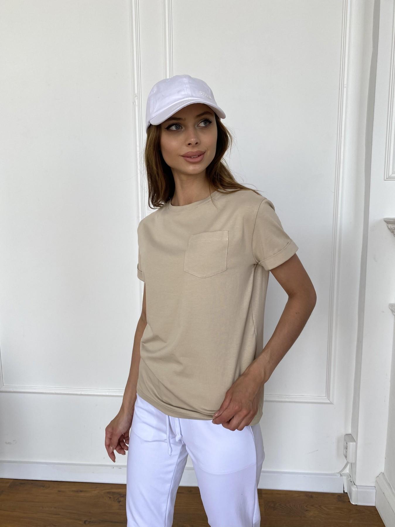 Вуди футболка из вискозы 11224 АРТ. 47877 Цвет: Бежевый - фото 5, интернет магазин tm-modus.ru