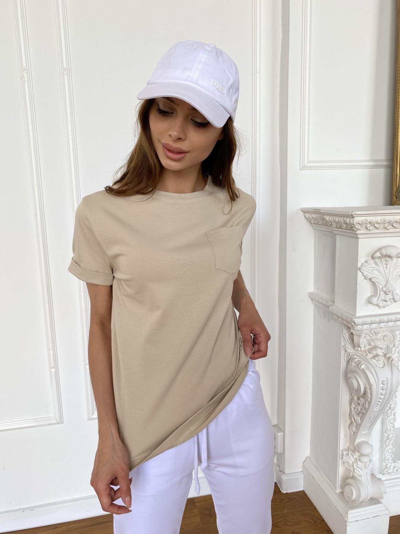 Вуди футболка из вискозы 11224 АРТ. 47877 Цвет: Бежевый - фото 6, интернет магазин tm-modus.ru