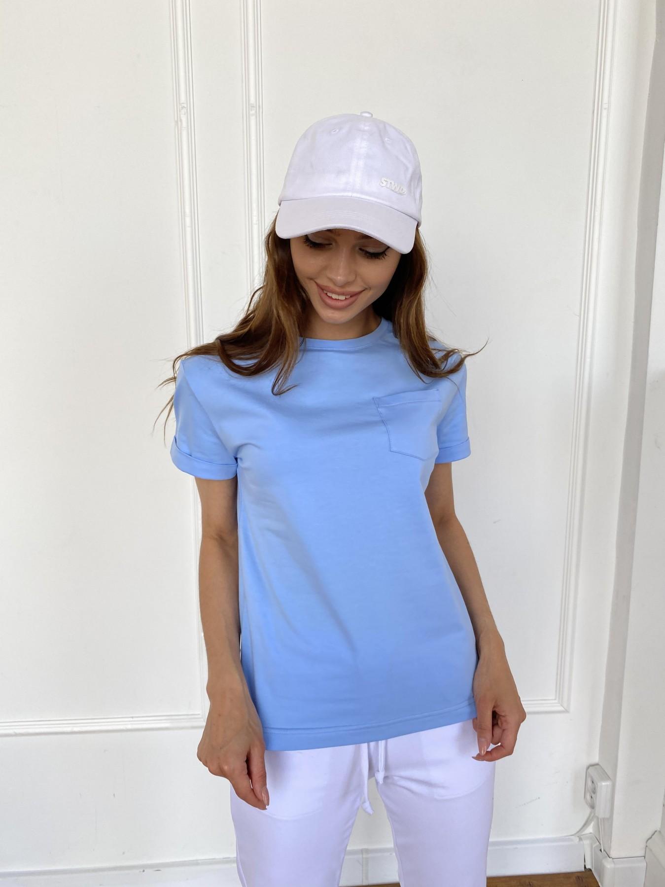 Вуди футболка из вискозы 11224 АРТ. 47878 Цвет: Голубой - фото 1, интернет магазин tm-modus.ru