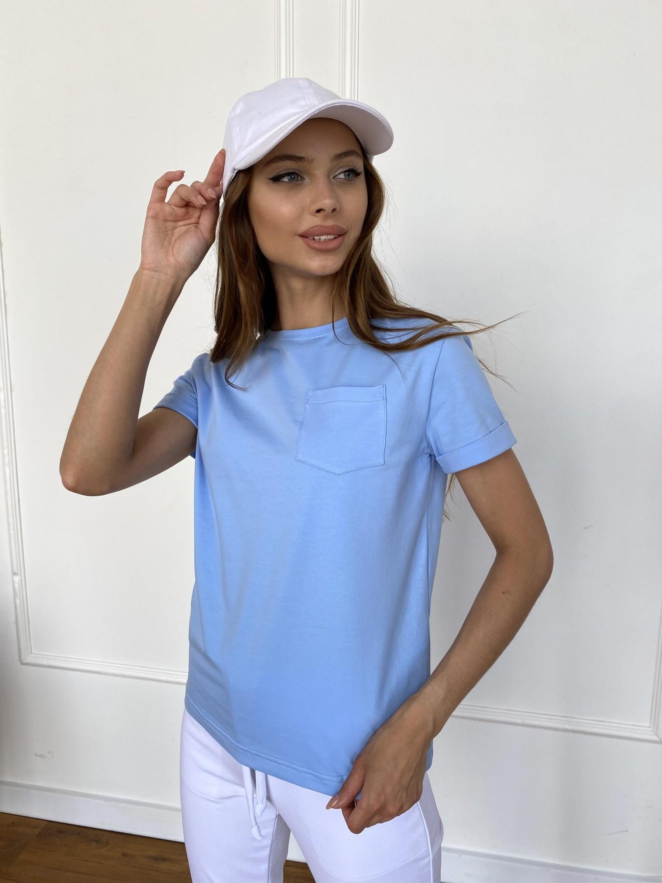 Вуди футболка из вискозы 11224 АРТ. 47878 Цвет: Голубой - фото 2, интернет магазин tm-modus.ru