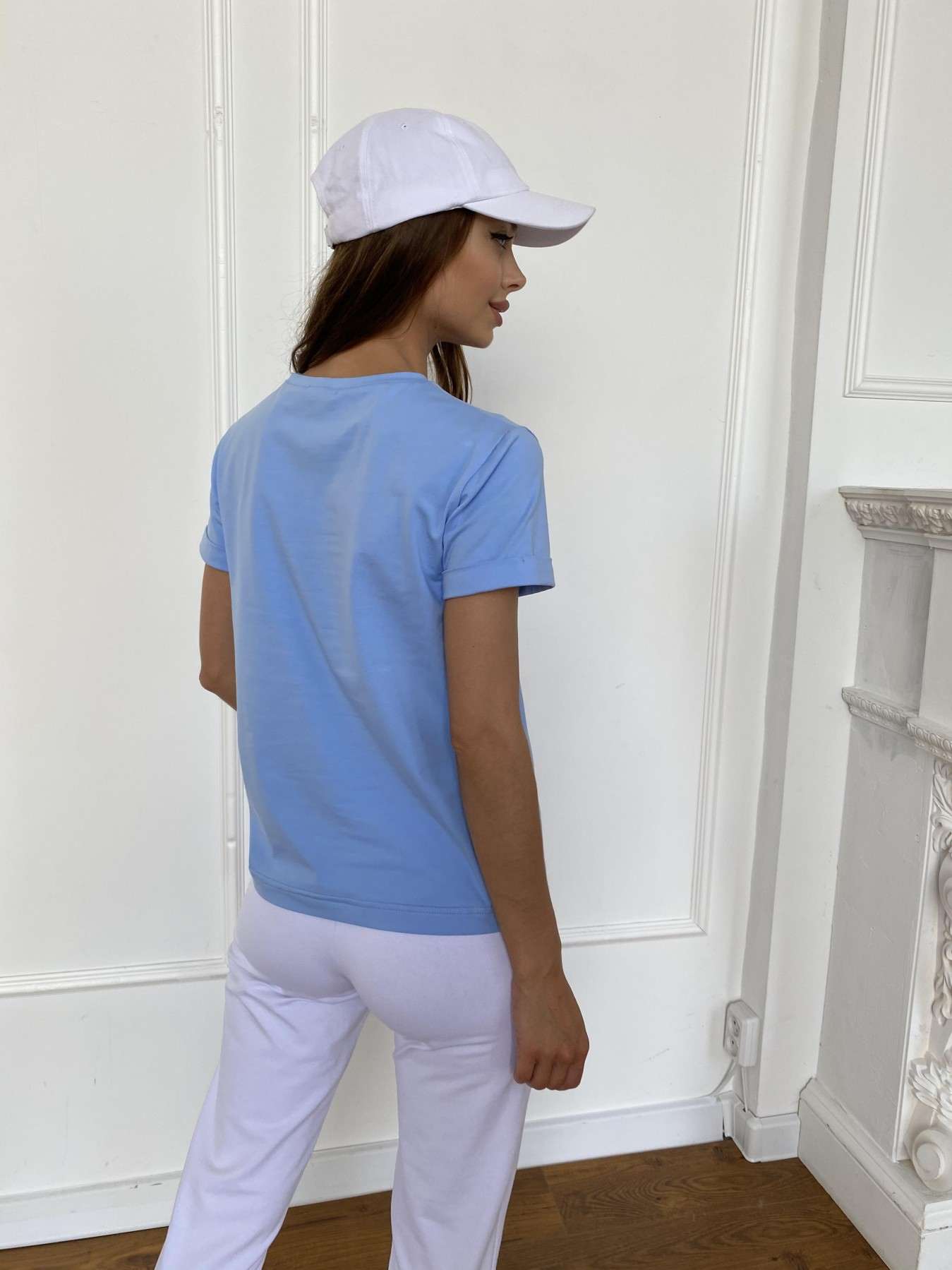 Вуди футболка из вискозы 11224 АРТ. 47878 Цвет: Голубой - фото 4, интернет магазин tm-modus.ru
