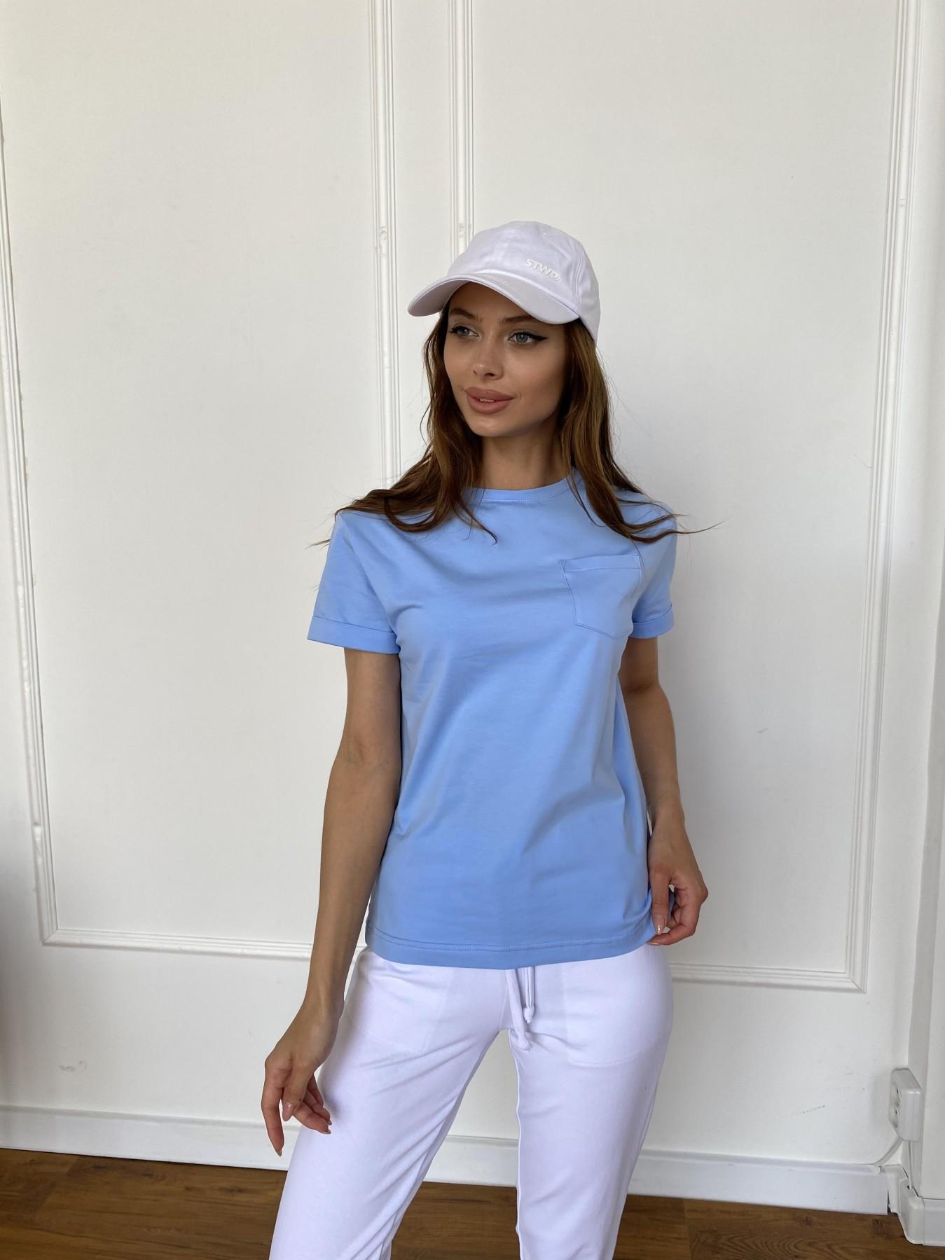 Вуди футболка из вискозы 11224 АРТ. 47878 Цвет: Голубой - фото 5, интернет магазин tm-modus.ru