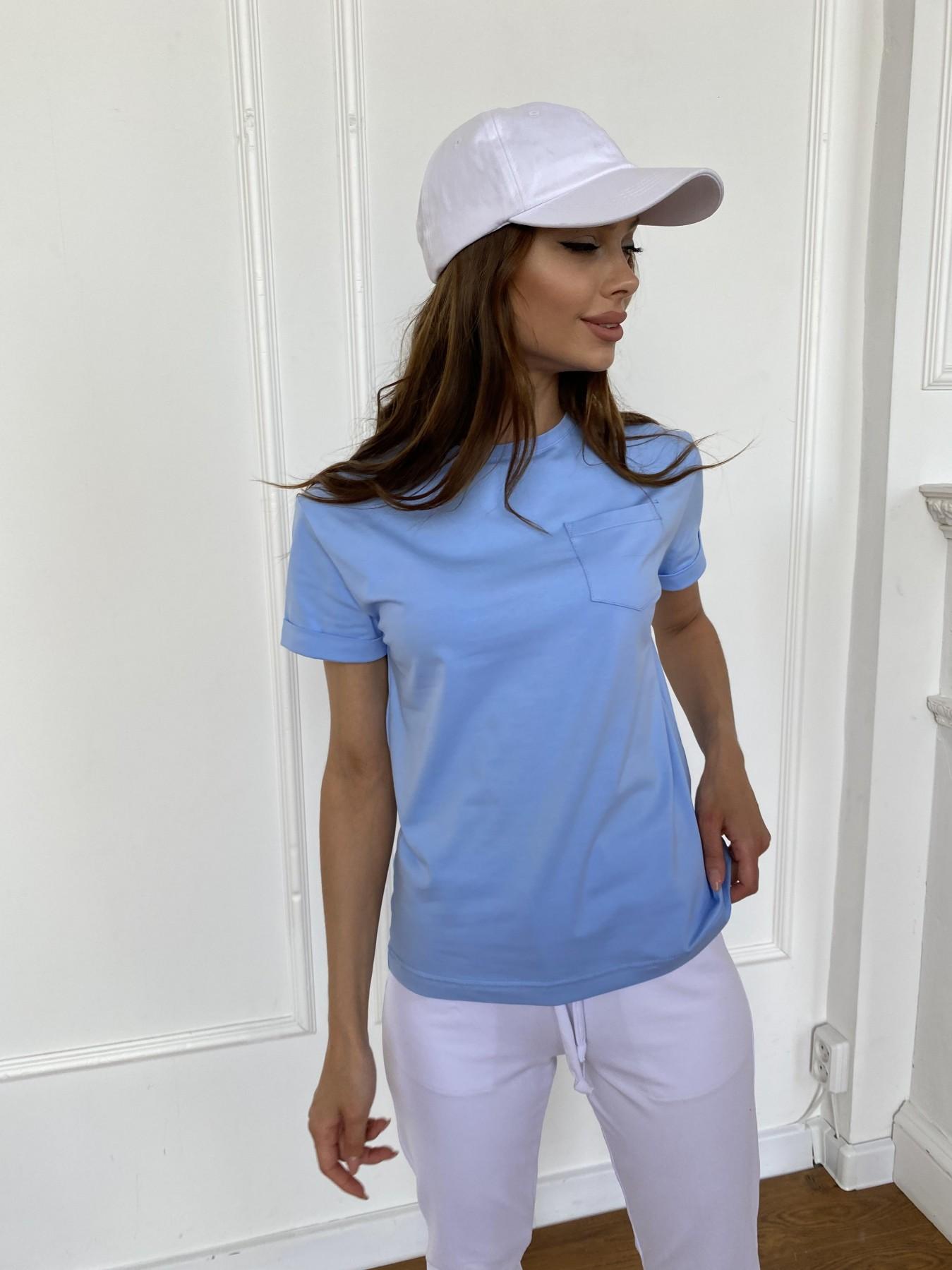 Вуди футболка из вискозы 11224 АРТ. 47878 Цвет: Голубой - фото 6, интернет магазин tm-modus.ru
