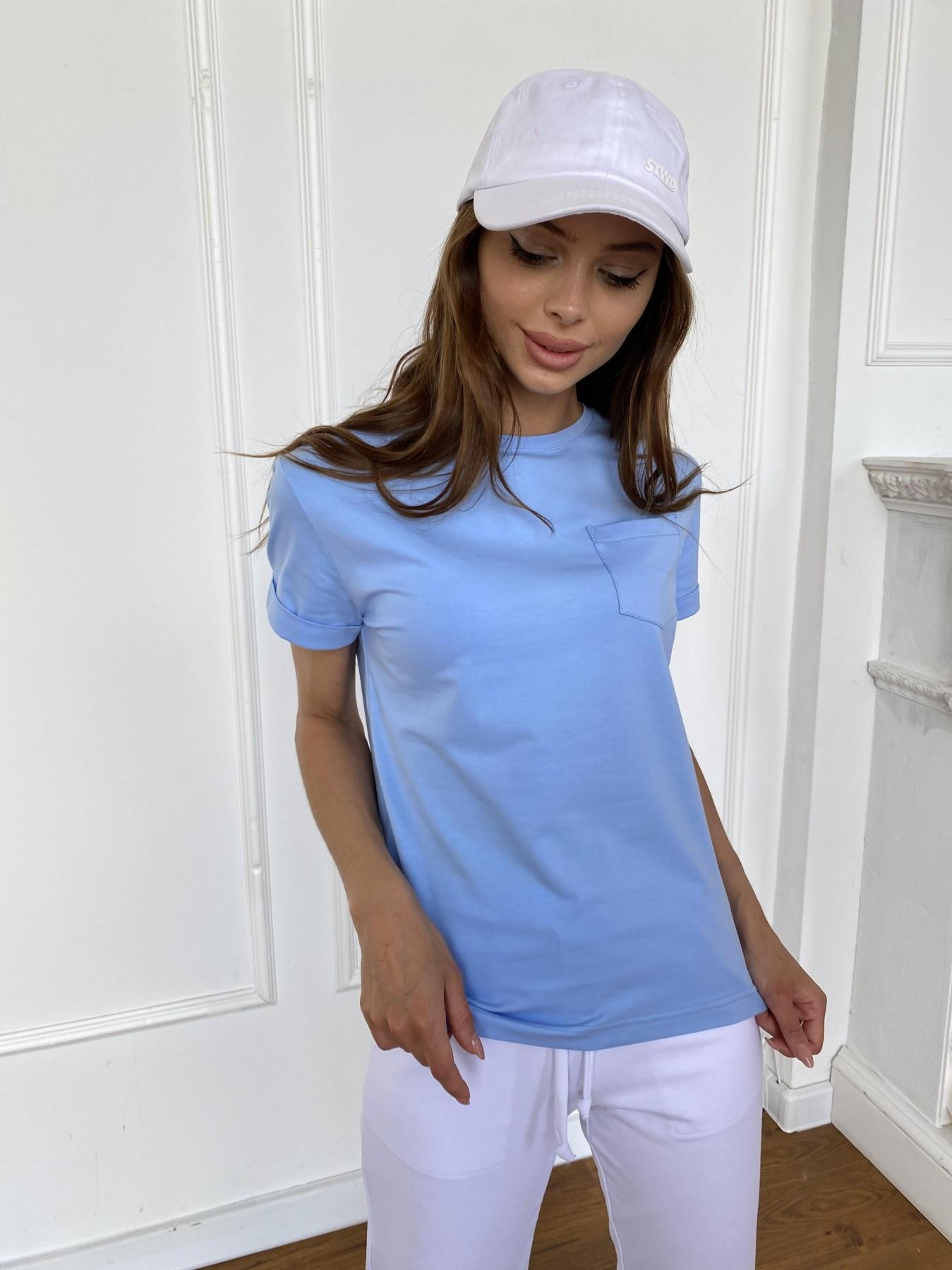 Вуди футболка из вискозы 11224 АРТ. 47878 Цвет: Голубой - фото 7, интернет магазин tm-modus.ru