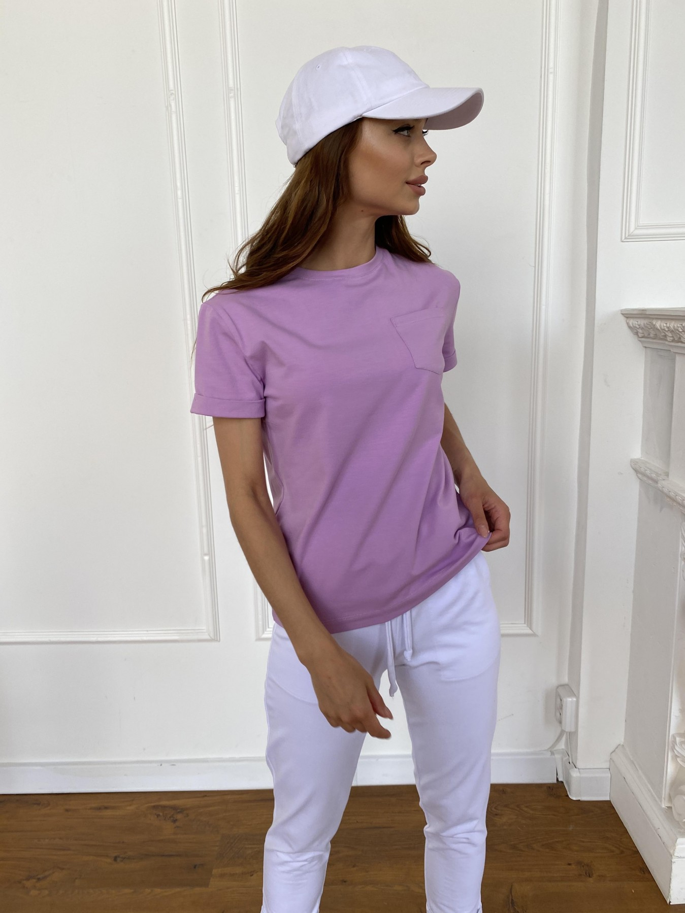 Вуди футболка из вискозы 11224 АРТ. 47879 Цвет: Лаванда - фото 2, интернет магазин tm-modus.ru