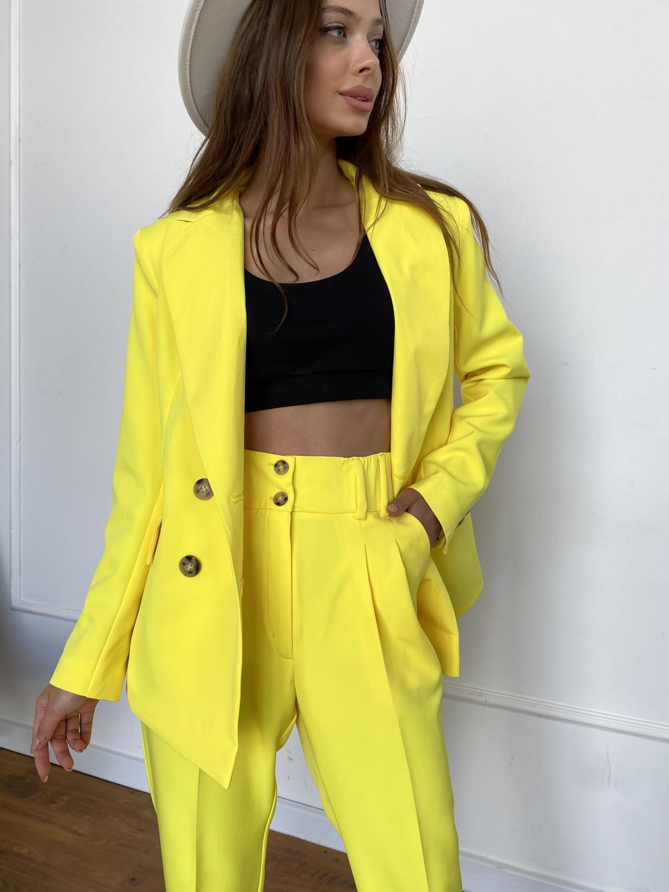 Франко костюм из костюмной ткани 11090 АРТ. 47907 Цвет: Желтый 10 - фото 4, интернет магазин tm-modus.ru