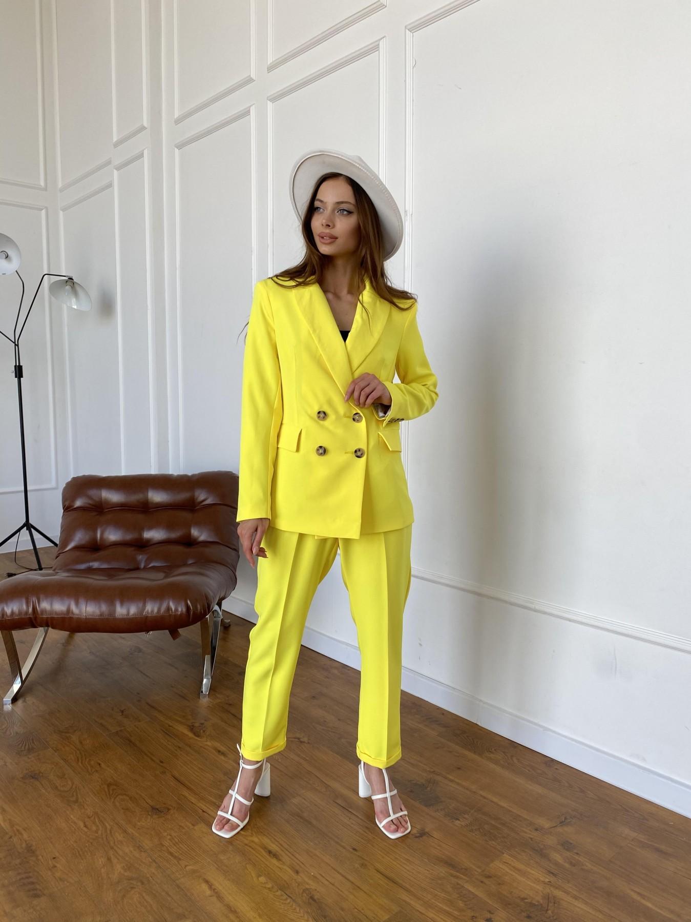 Франко костюм из костюмной ткани 11090 АРТ. 47907 Цвет: Желтый 10 - фото 7, интернет магазин tm-modus.ru