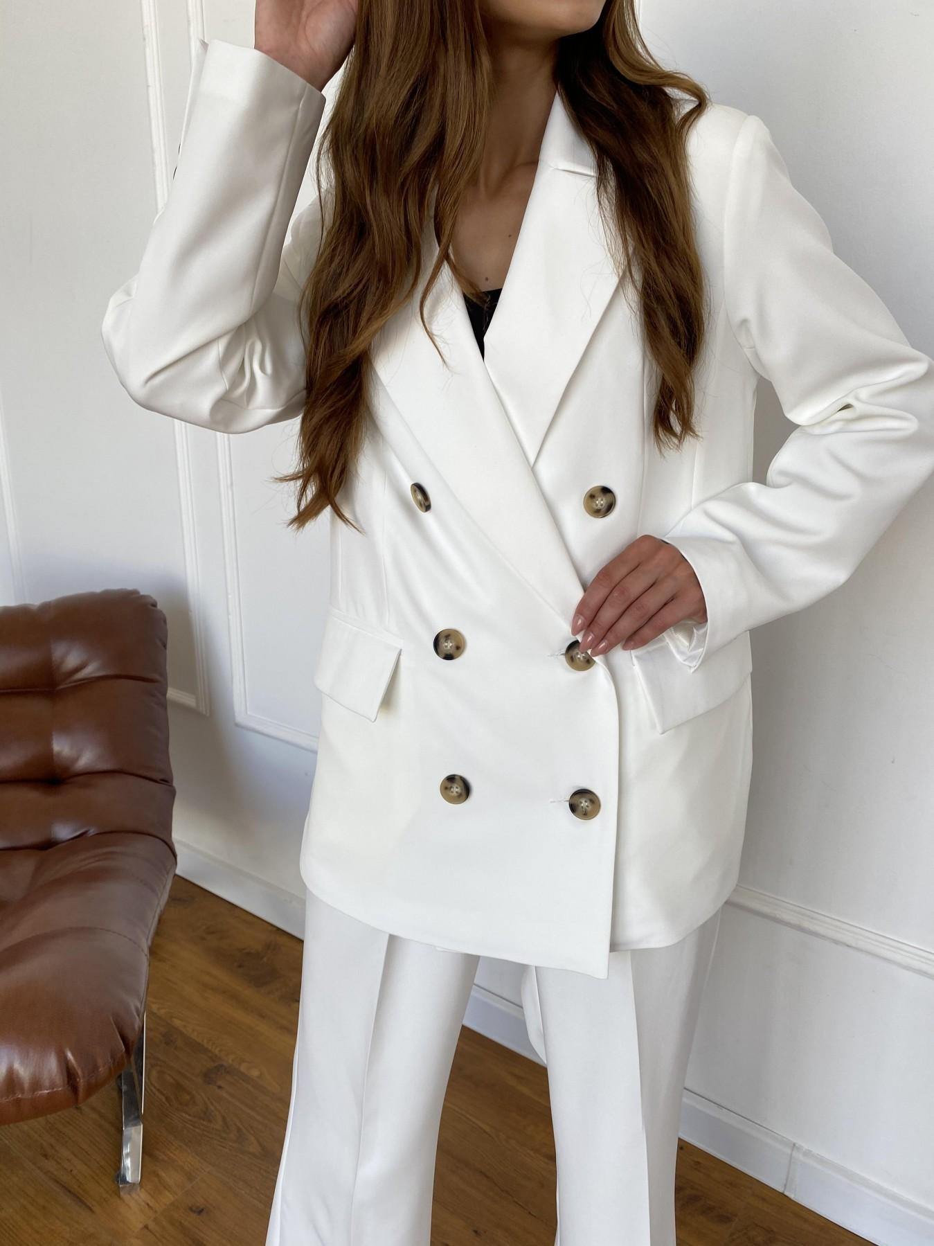 Белисимо  костюм стрейч из костюмной ткани 11217 АРТ. 47899 Цвет: Молоко 1 - фото 3, интернет магазин tm-modus.ru