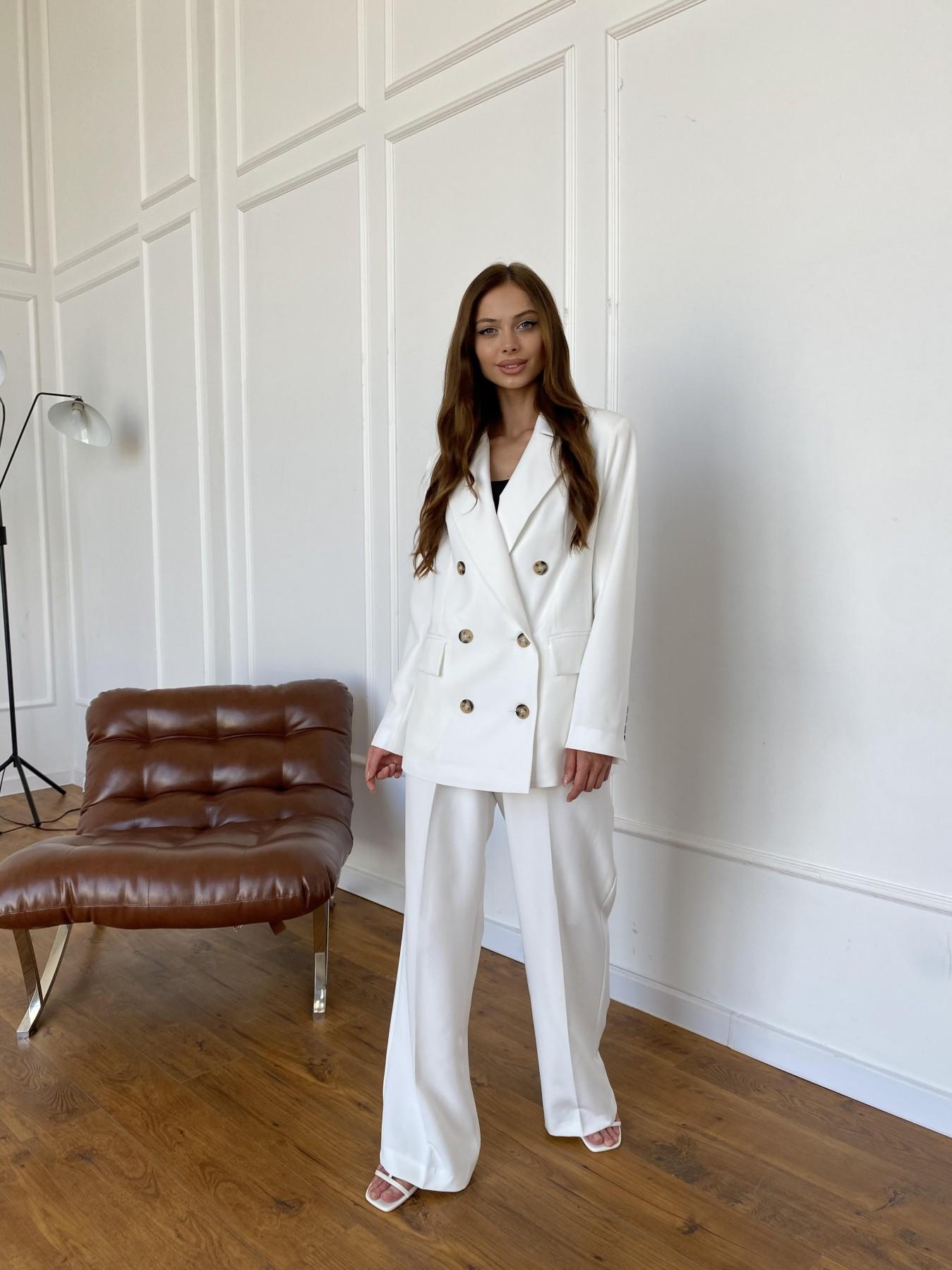Белисимо  костюм стрейч из костюмной ткани 11217 АРТ. 47899 Цвет: Молоко 1 - фото 4, интернет магазин tm-modus.ru